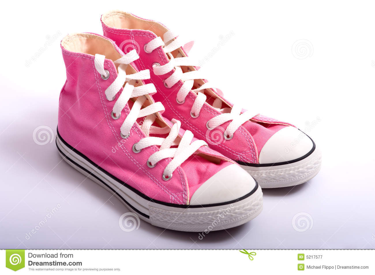 Pink Basketball Shoes Royalty Free Stock Photography - Image: 5217577