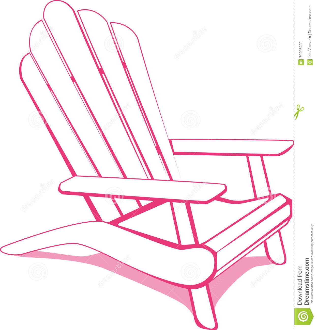 Pink Beach Chair Stock Vector Illustration Of Pool Tanning 70296283