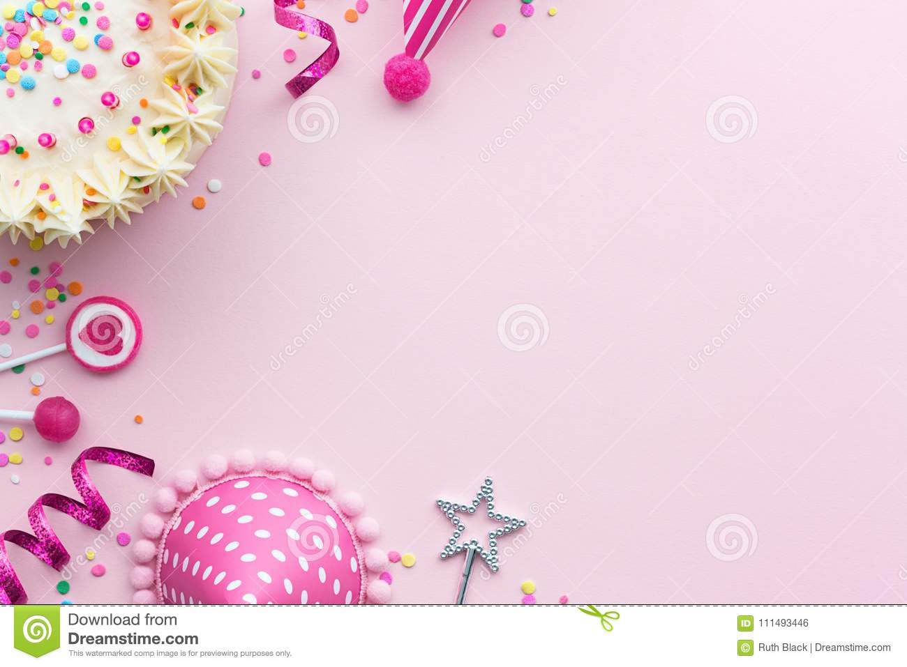 pink birthday background stock photo image of cake
