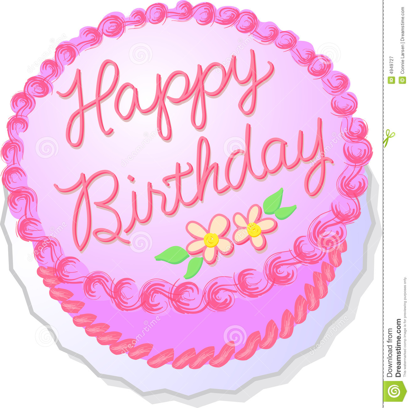 Cake Pictures Birthday Free : Pink Birthday Cake Royalty Free Stock Photography - Image ...