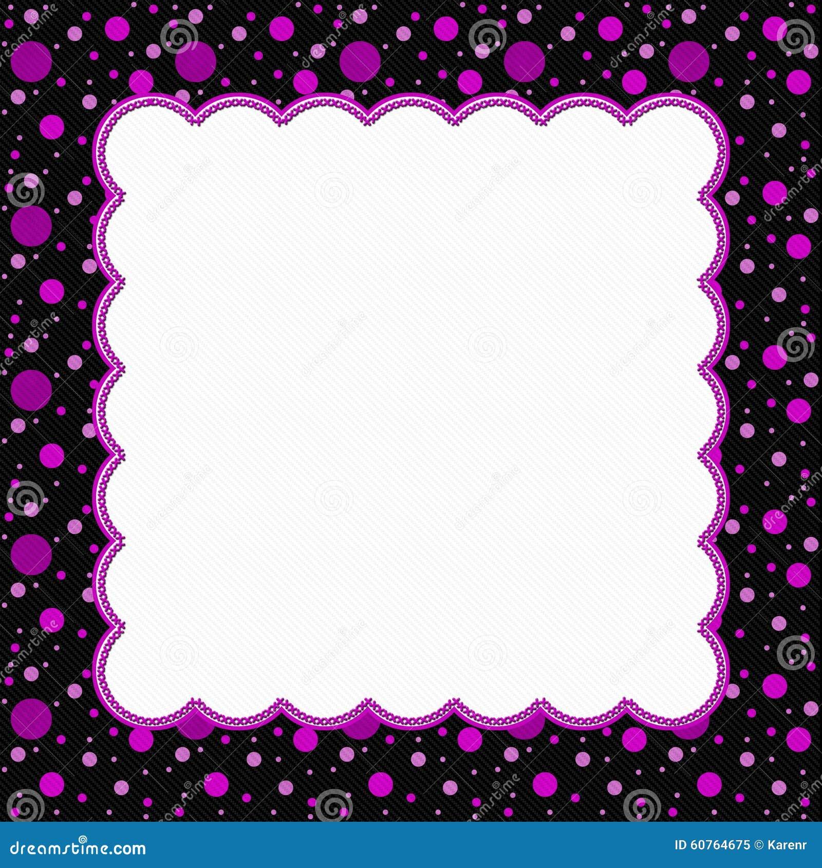 Pink And Black Polka Dot Frame Background Stock Illustration ...