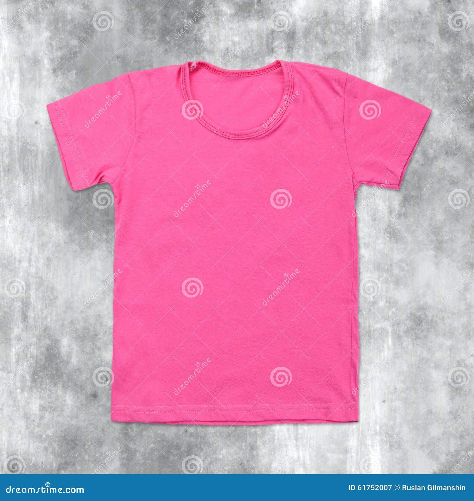 43f3f53b Pink Blank T-shirt On Dark Cracked Background Stock Image - Image of ...