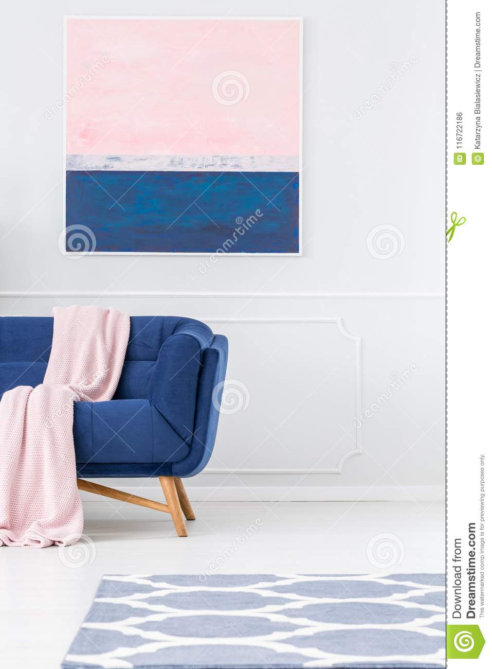 Terrific Pastel Pink Living Room Interior Stock Photo Image Of Theyellowbook Wood Chair Design Ideas Theyellowbookinfo