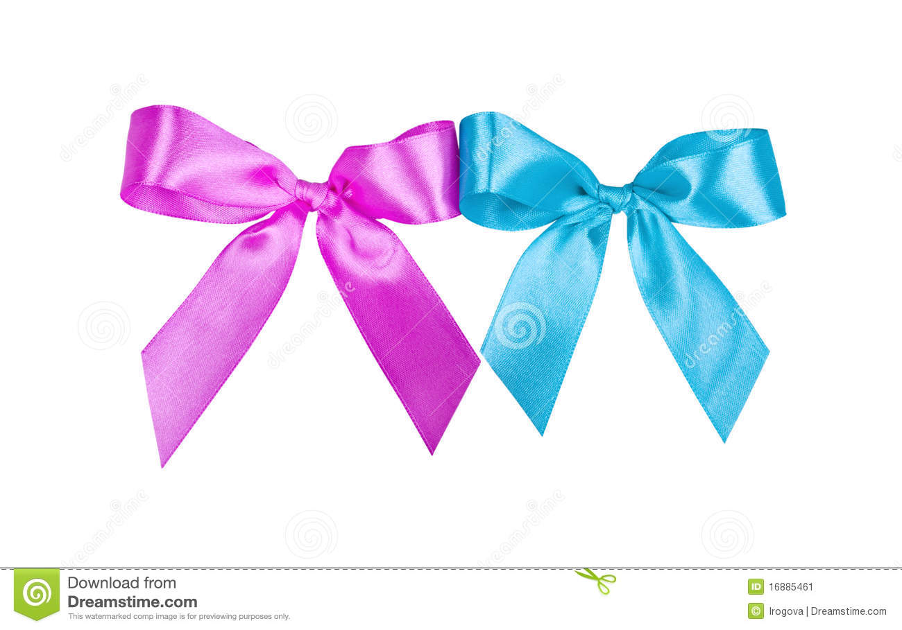 pink and blue bows stock image image 16885461