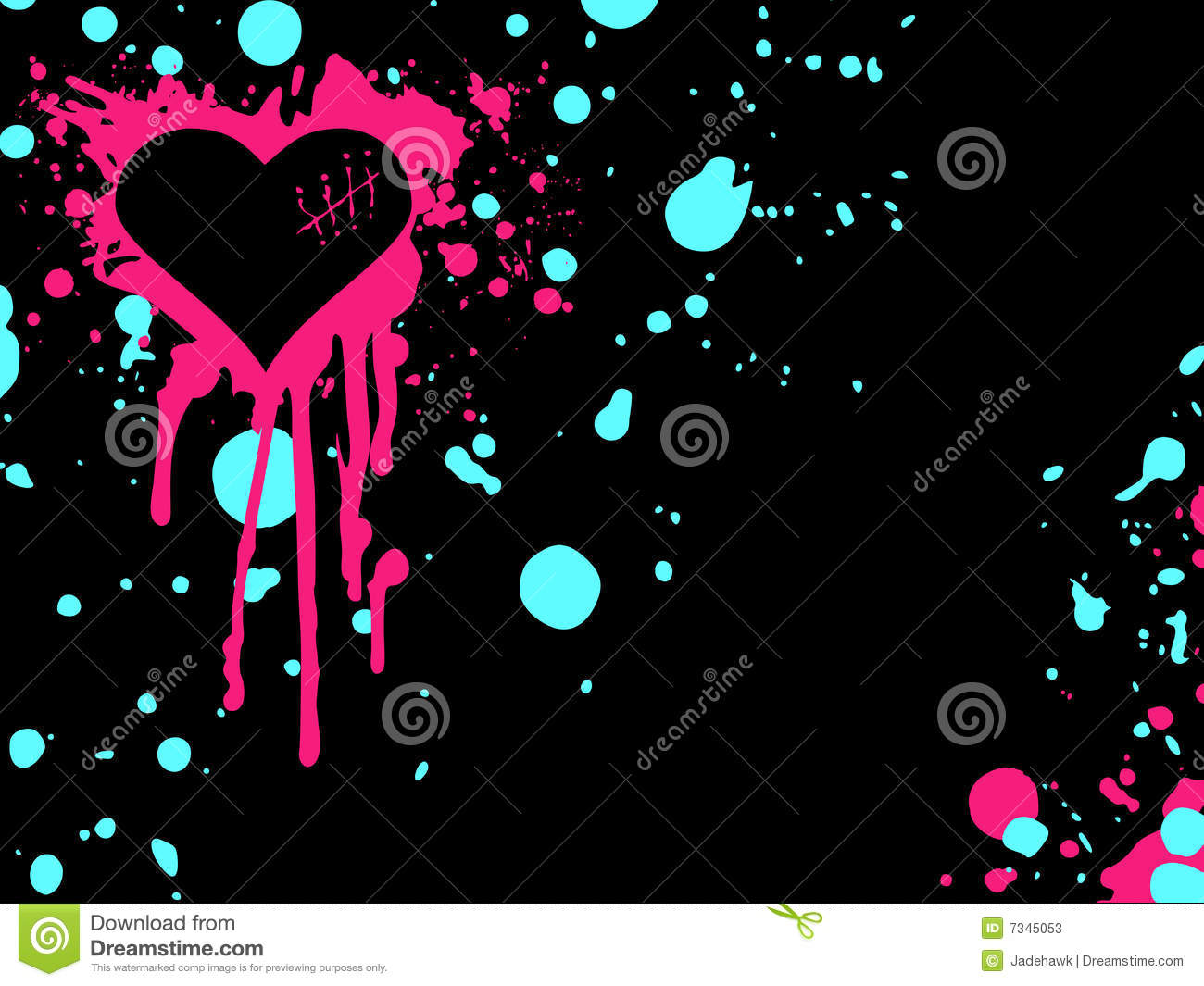 Pink And Blue Emo Heart Background Stock Photos Image