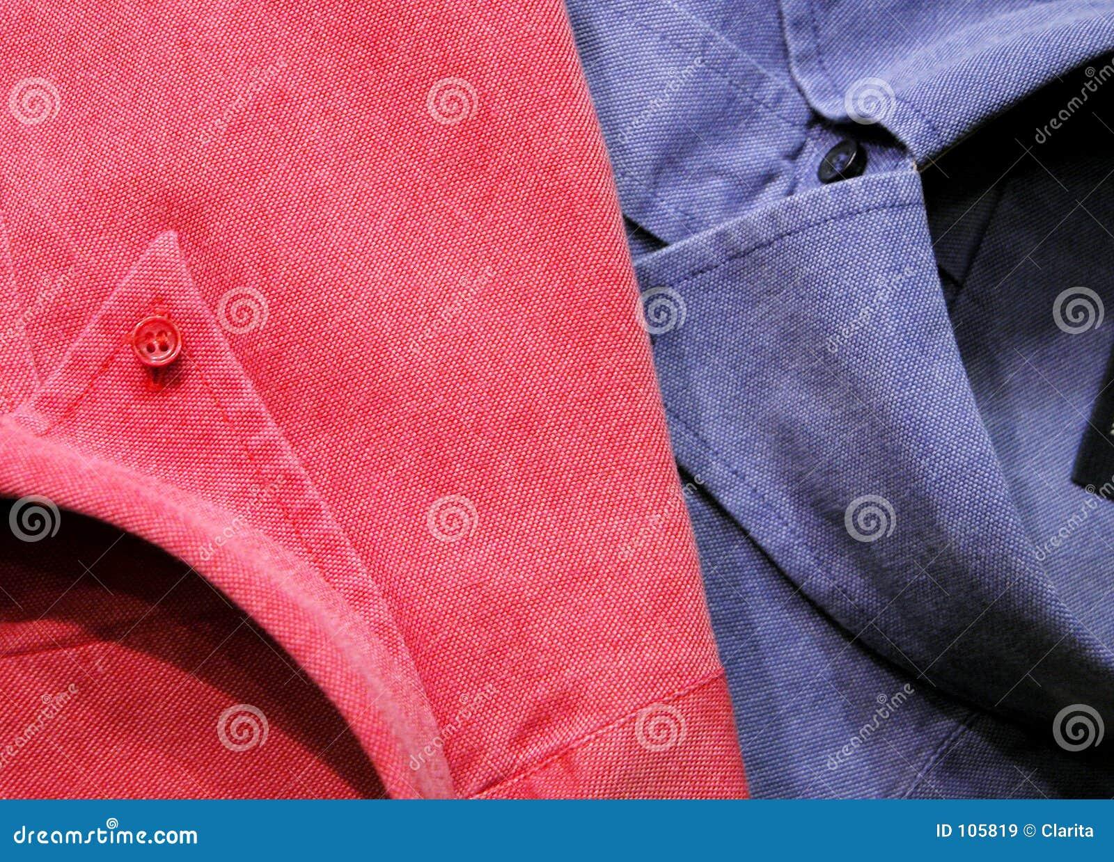 Pink & blue shirts