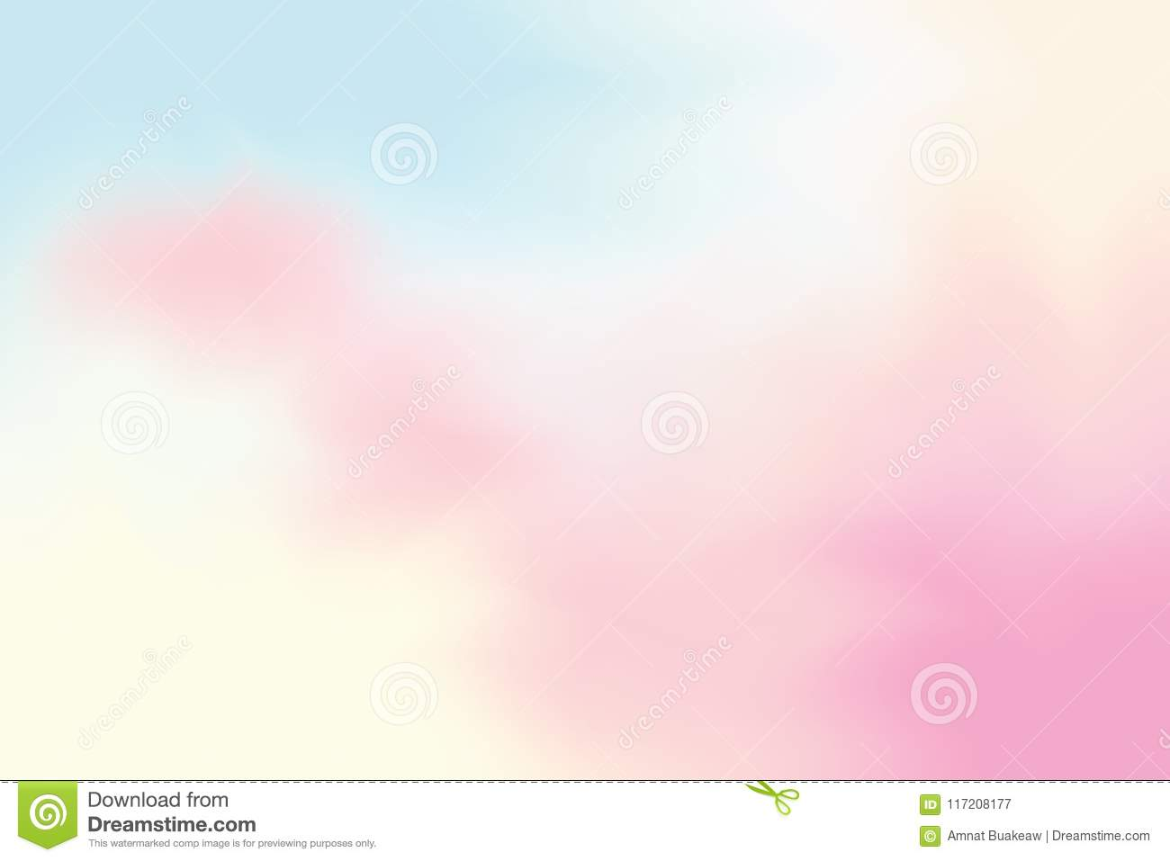 Pink Blue Soft Color Mixed Background Painting Art Pastel