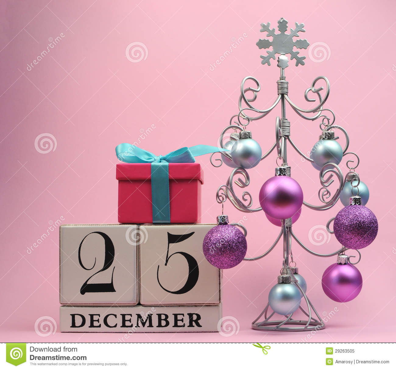 download pink and blue theme save the date calendar for christmas day december 25