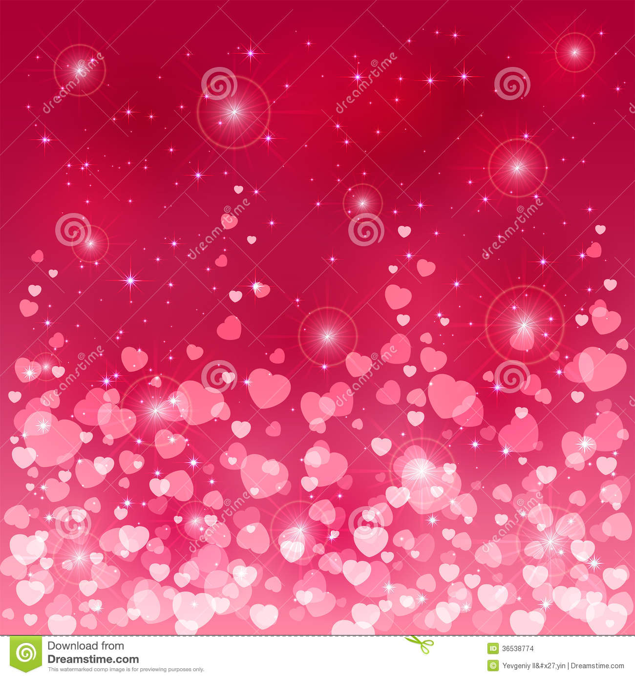 Pink blurry hearts stock vector. Illustration of holiday ...