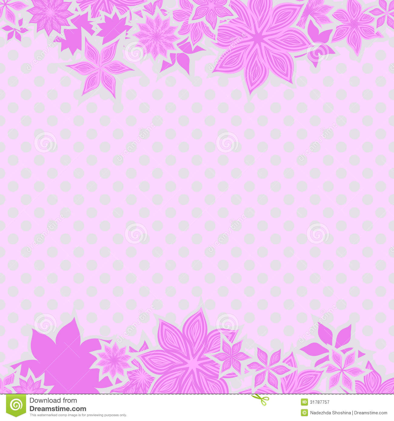 Pink Borders With Flowers Illustration 31787757 Megapixl