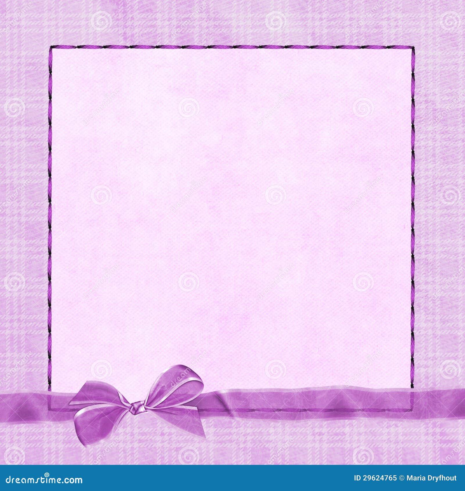 Pink Bow On Plaid Border Royalty Free Stock Photo - Image ...
