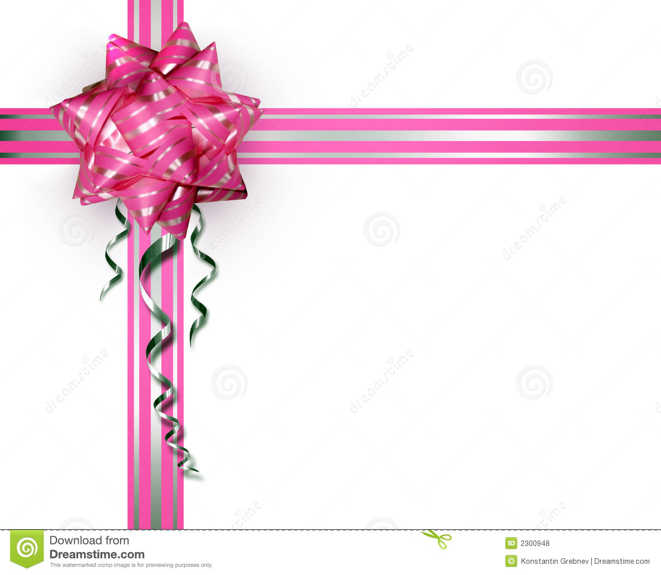 pink bow on a white background stock photo image 2300948