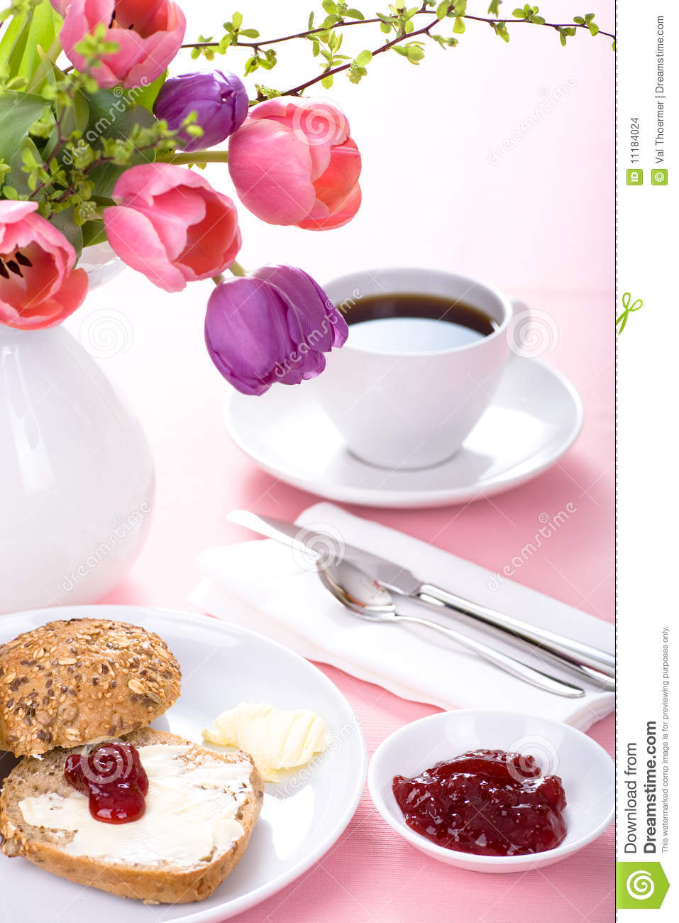 Pink Breakfast Stock Images Image 11184024