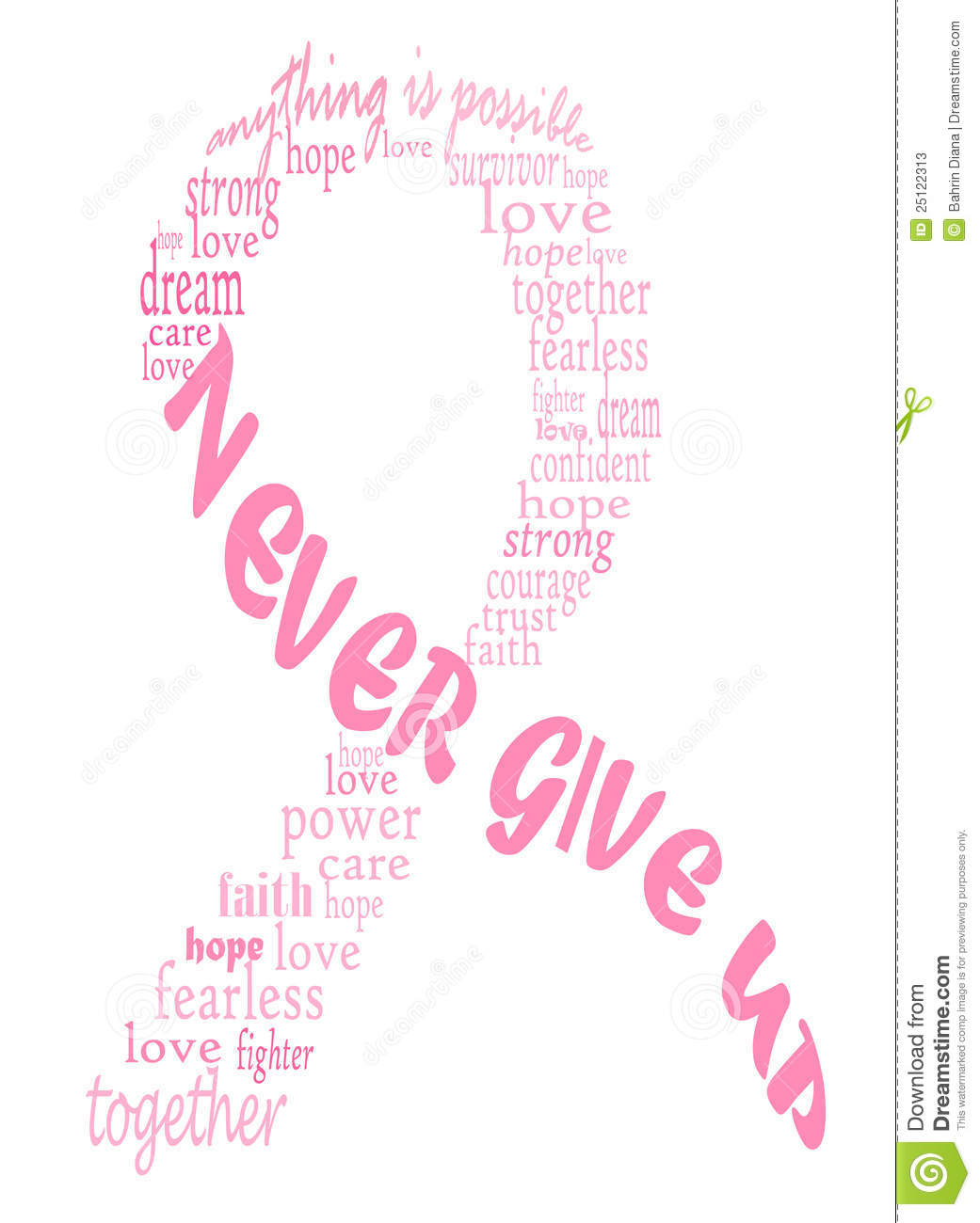 Pink Breast Cancer Ribbon Stock Vector Illustration Of Cancer