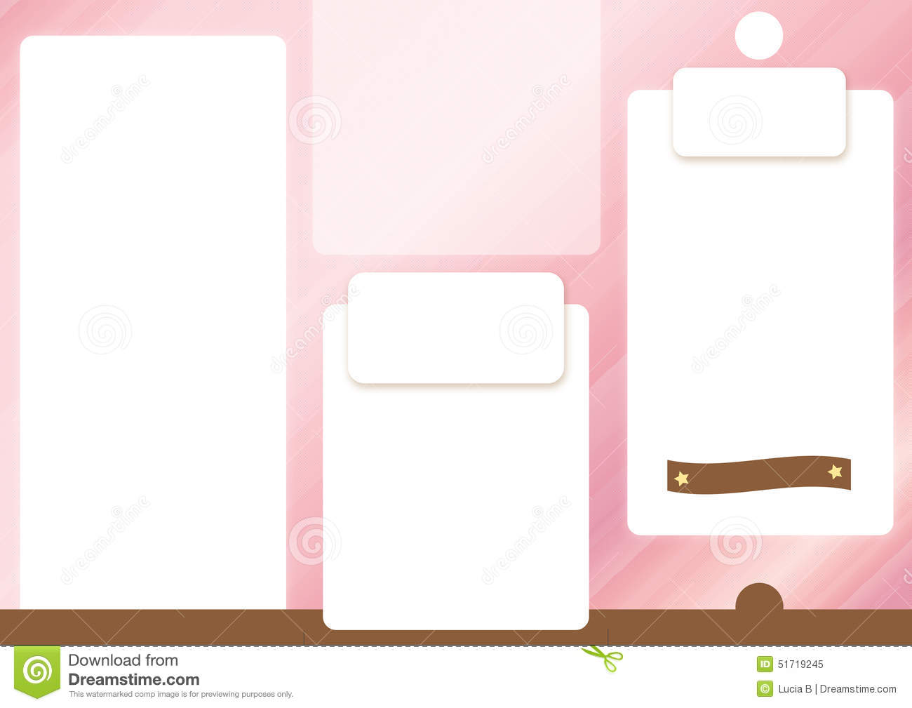 Pink brochure template front spread stock photo image for Background brochure templates