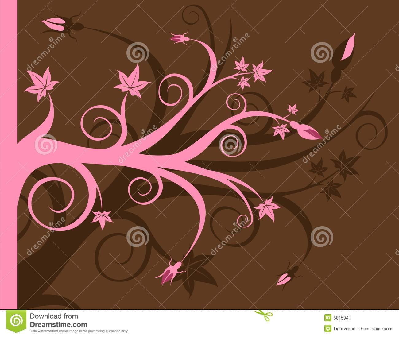 Pink And Brown Floral Stock Image Image 5815941