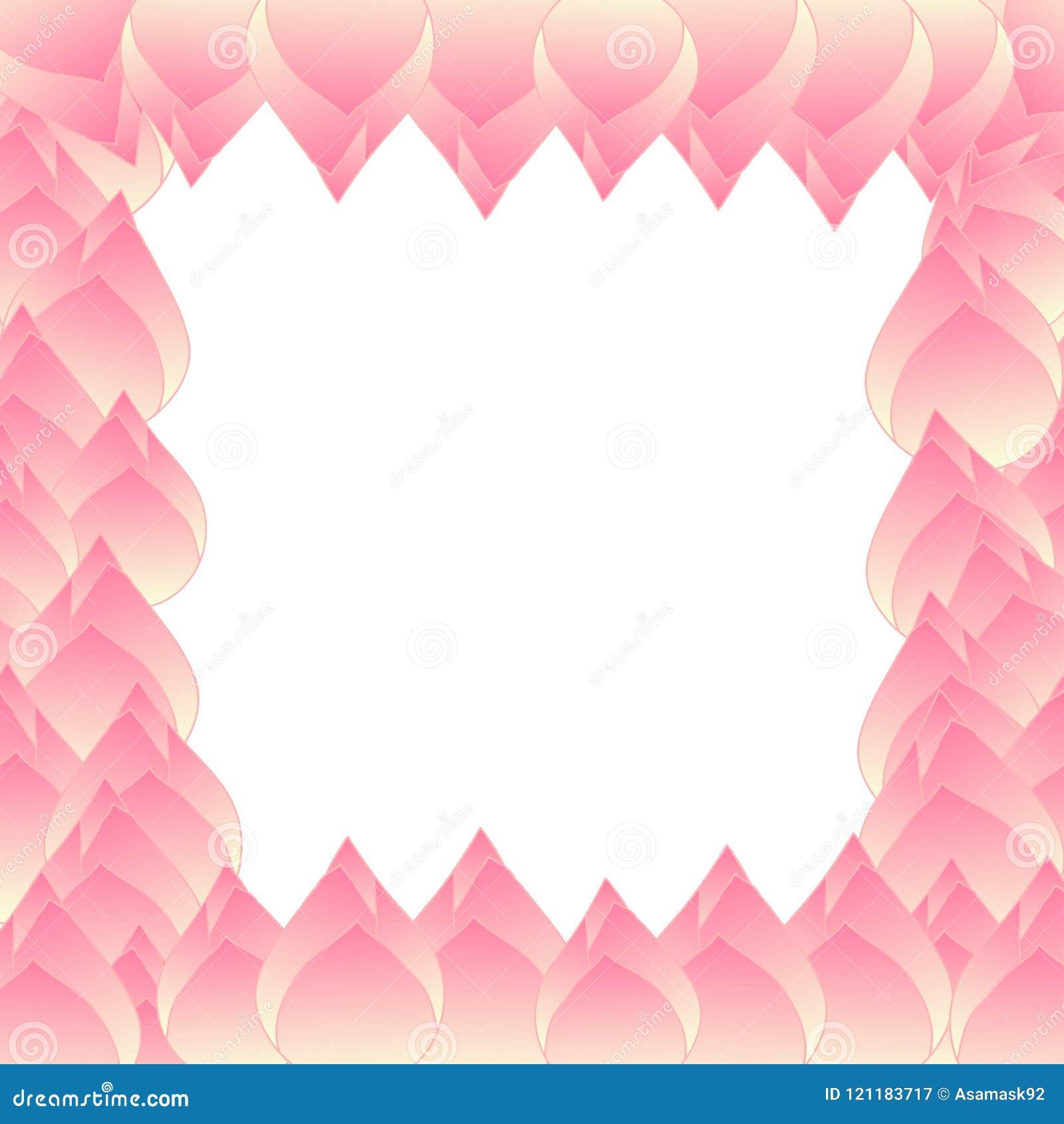 Pink Bud Indian Lotus Border Stock Vector Illustration Of
