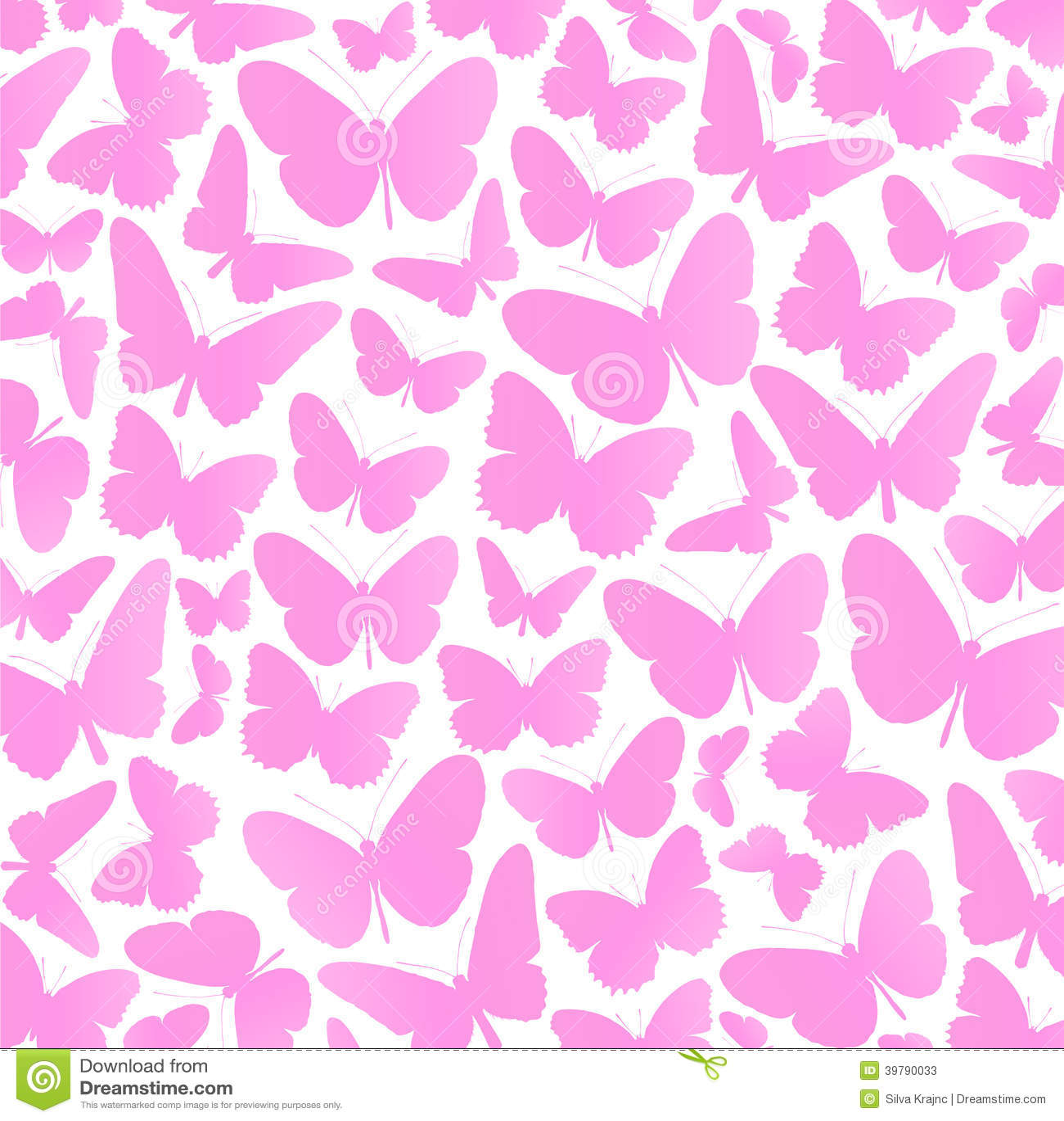 Pink Butterfly Wallpaper: Pink Butterflies Background Vector Stock Vector