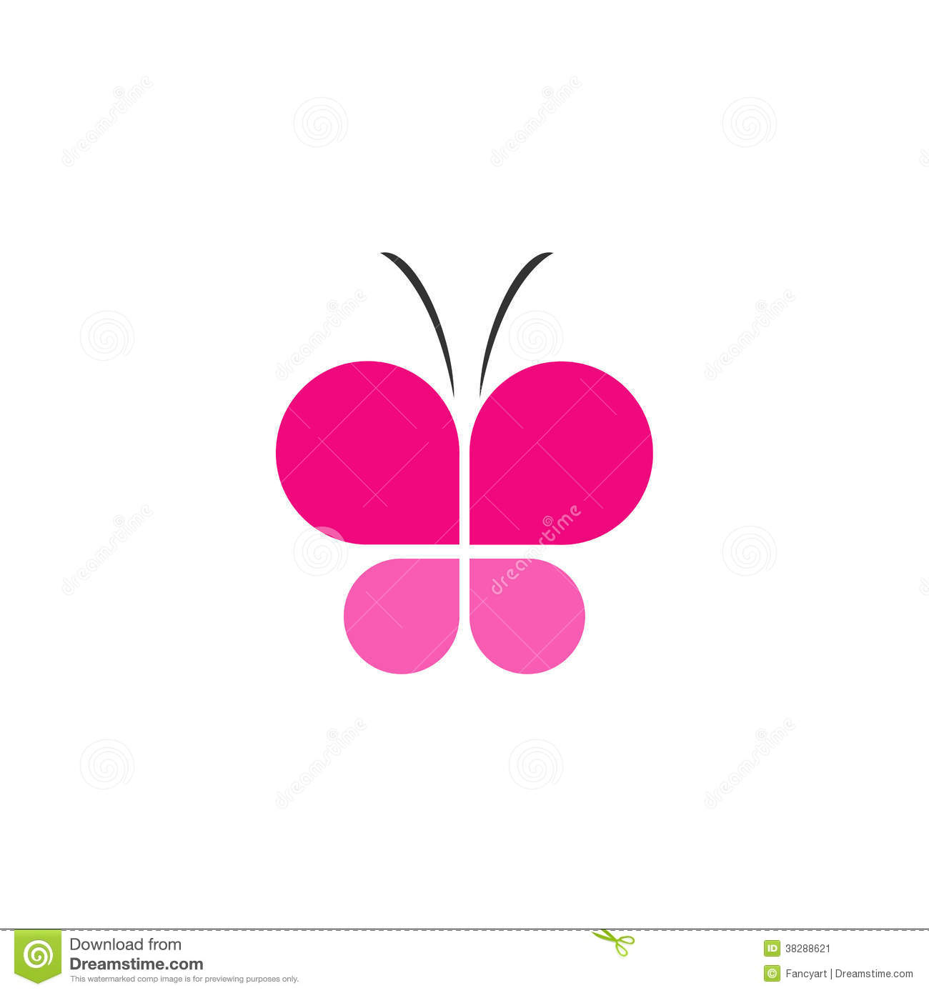 Pink Butterfly Business Icon Stock Image - Image: 38288621: dreamstime.com/stock-image-pink-butterfly-business-icon-image38288621