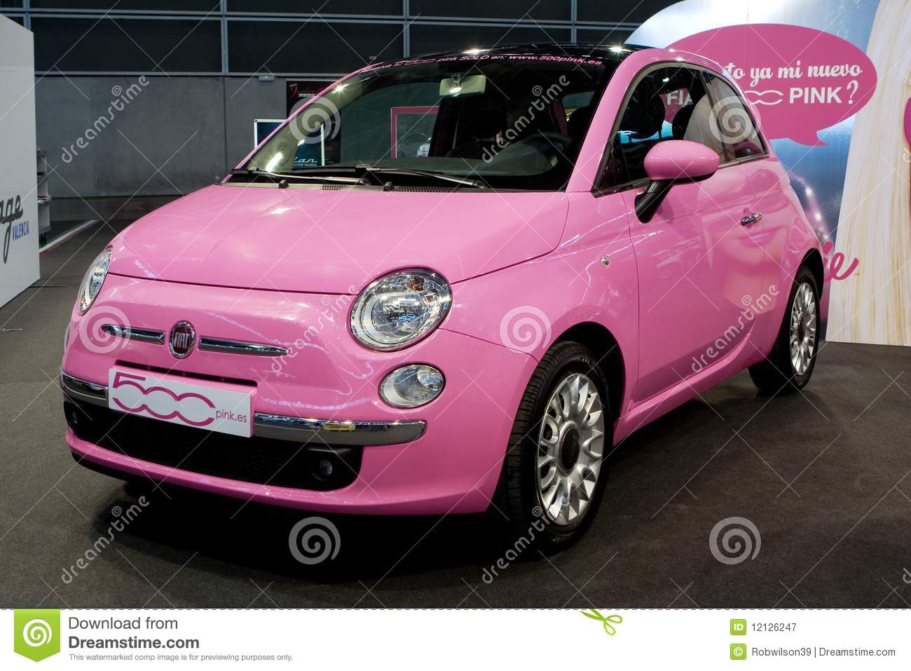 Pink Car Editorial Photography Image Of Green Design