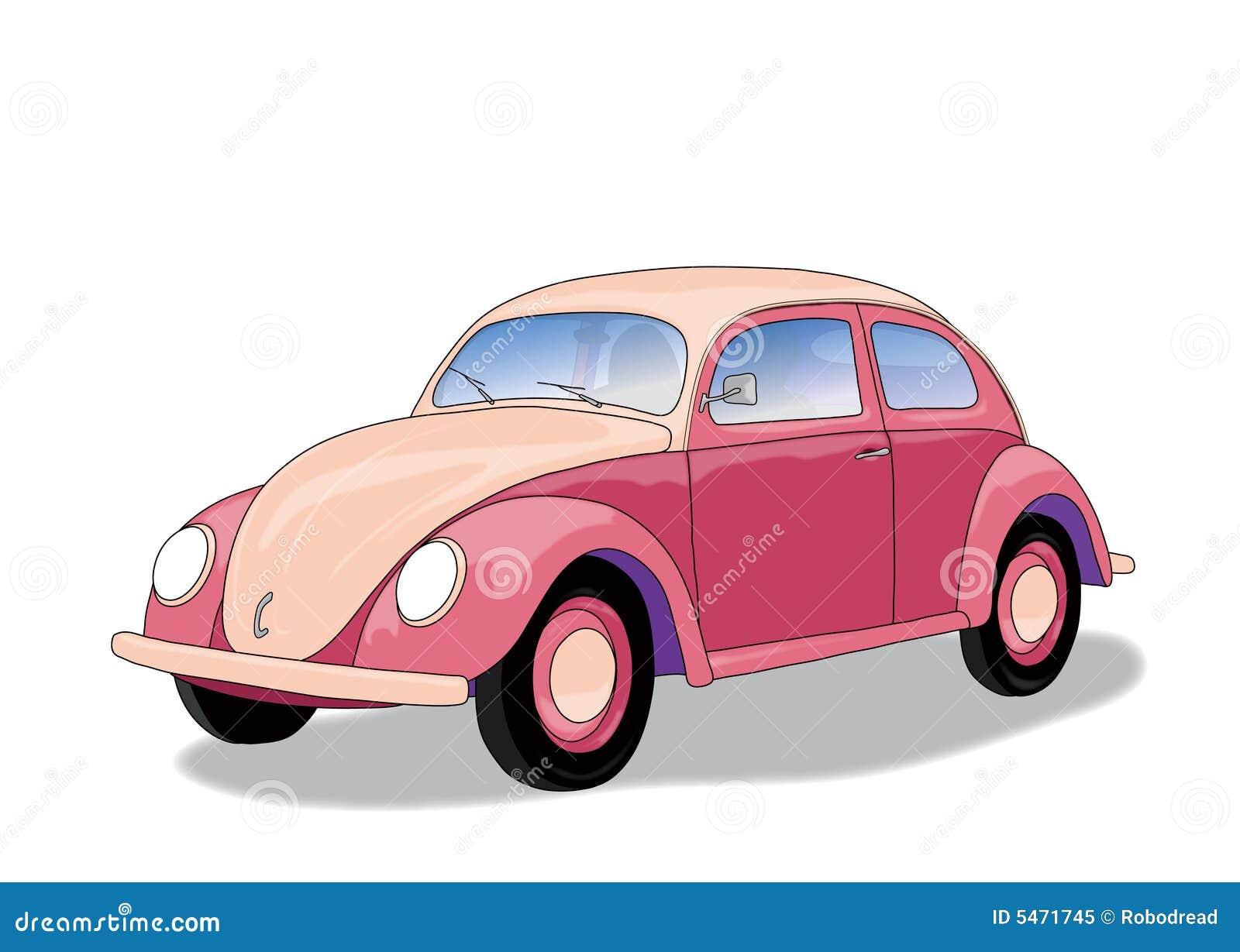 Volkswagen Beetle Pink >> Pink Car (vector) Royalty Free Stock Photo - Image: 5471745