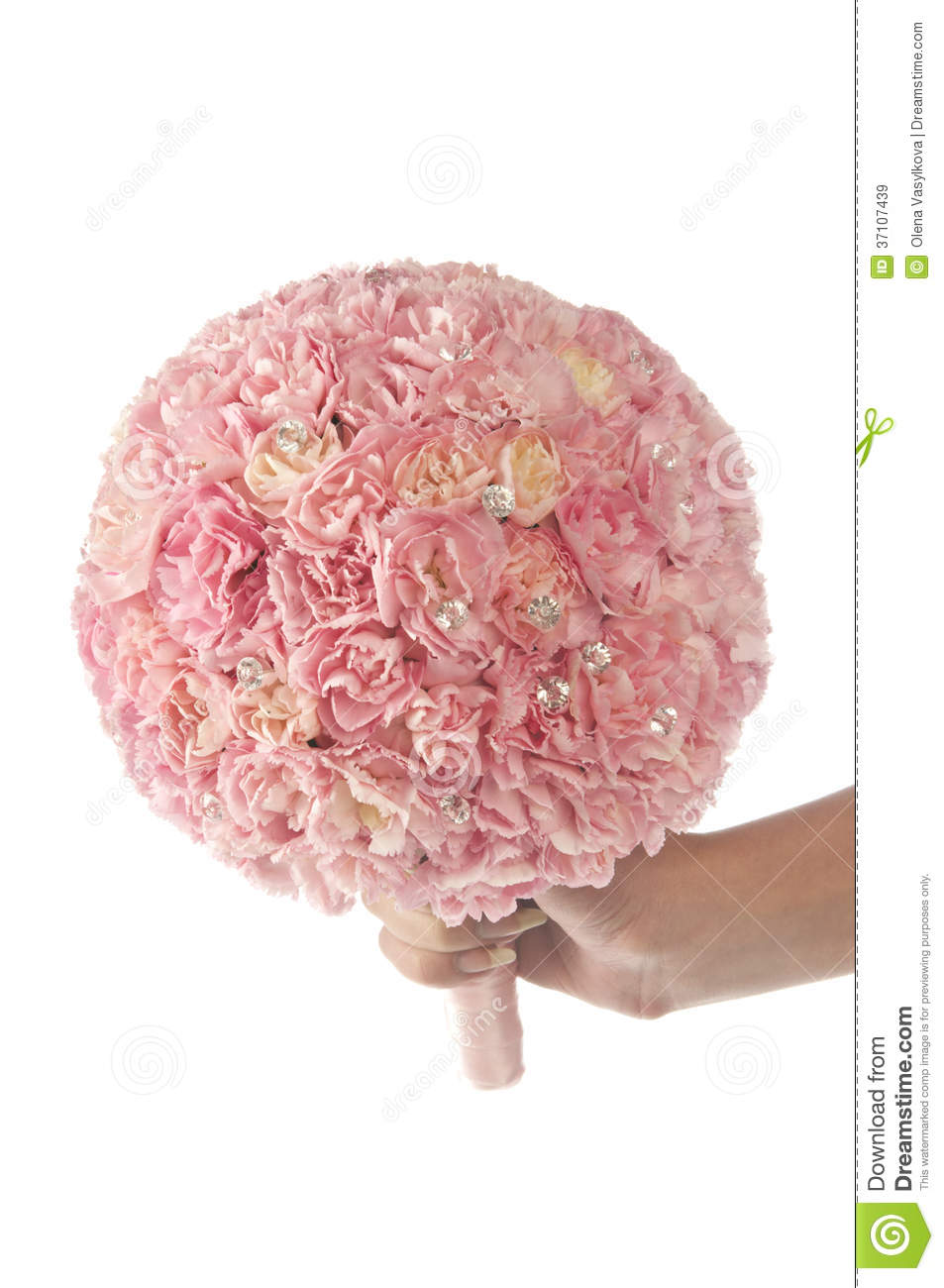 pink carnation wedding bouquet royalty free stock images
