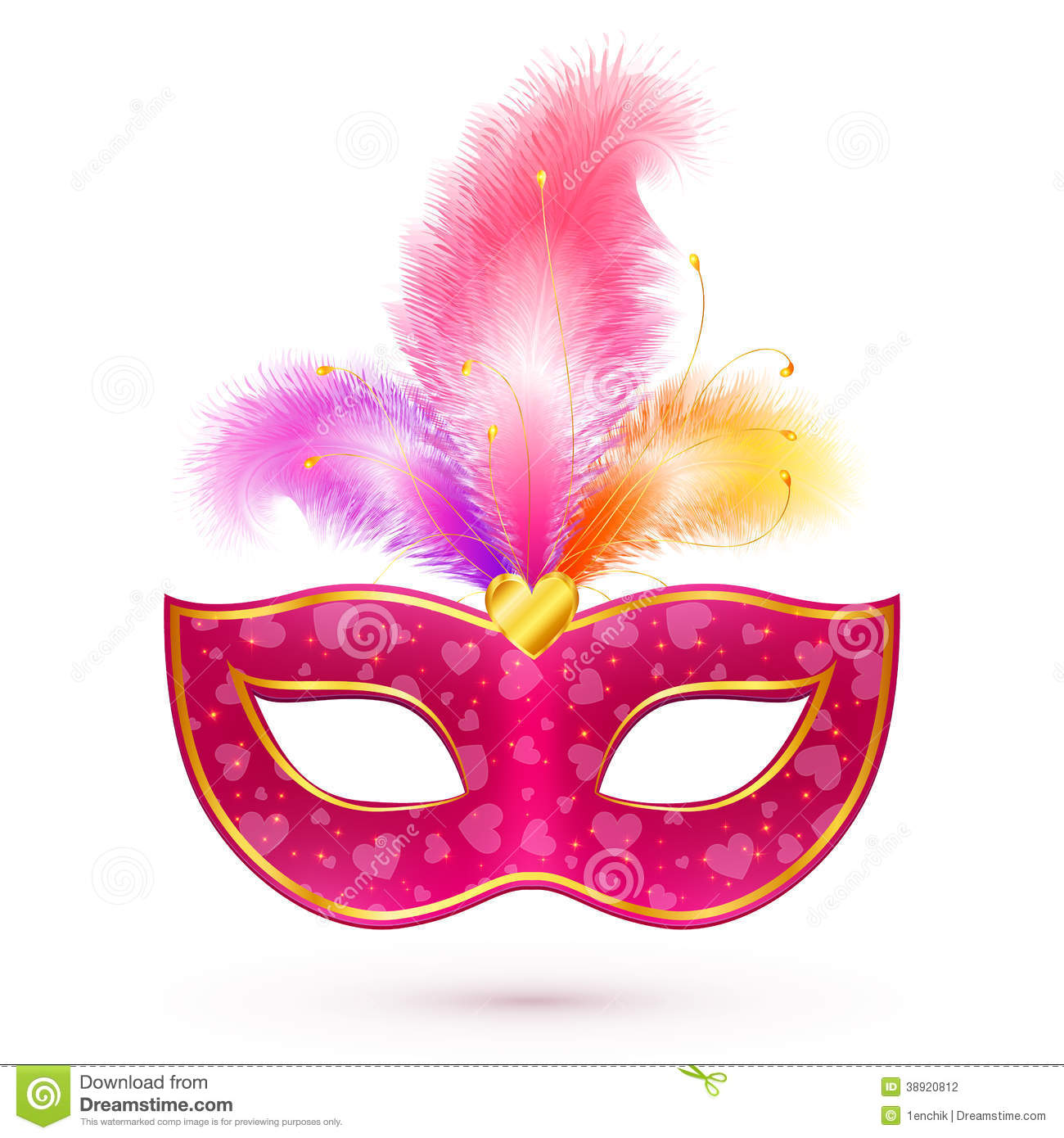 pink carnival mask with feathers stock vector image no talking clip art image no talking back clipart