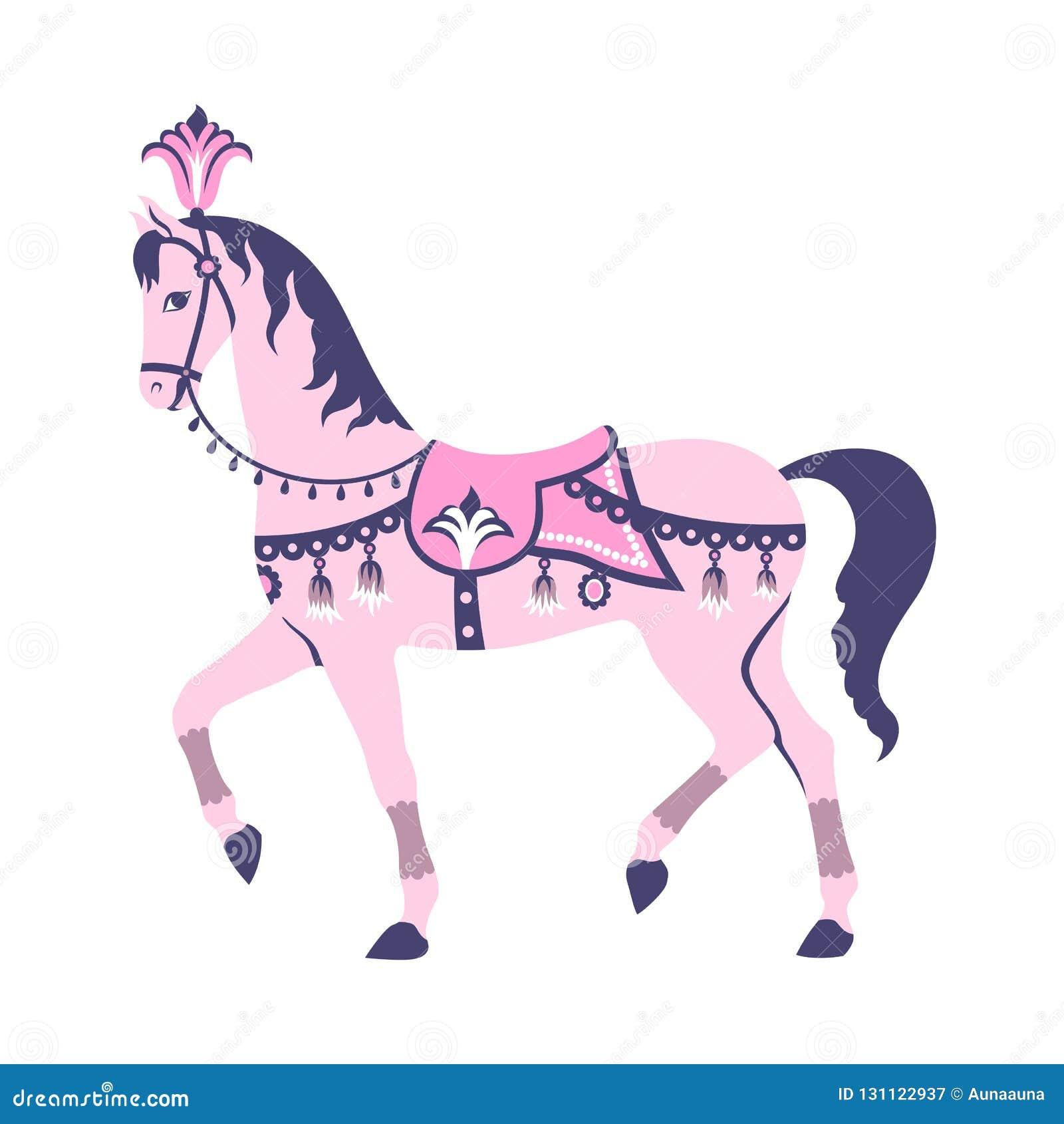 Pink Horse Stock Illustrations 16 649 Pink Horse Stock Illustrations Vectors Clipart Dreamstime
