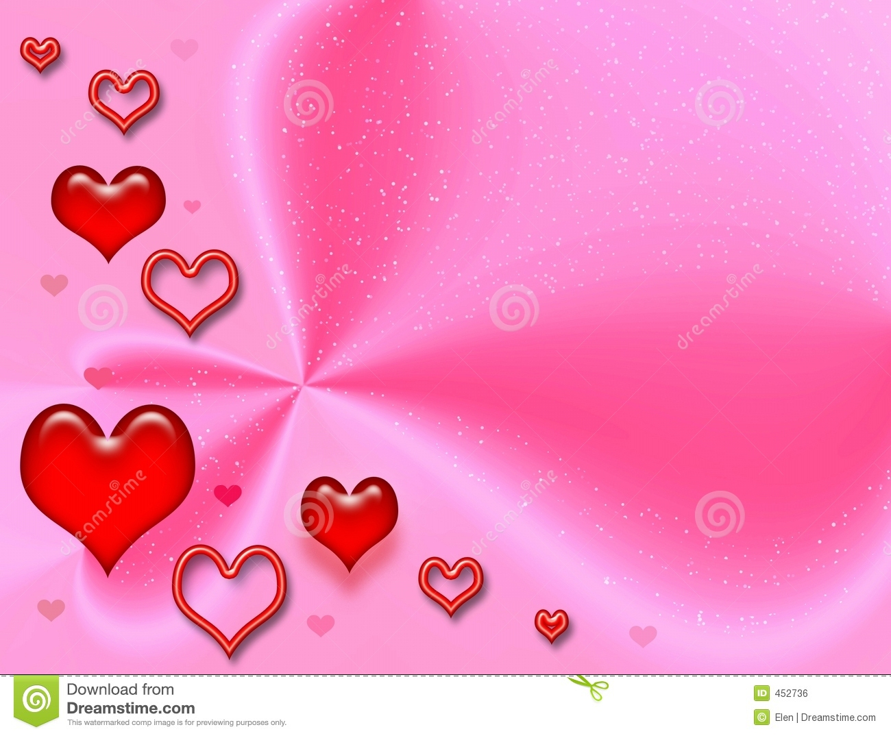 Download Pink Celebratory Card To The Valentine's Day Stock Illustration - Illustration of decoration, element: 452736