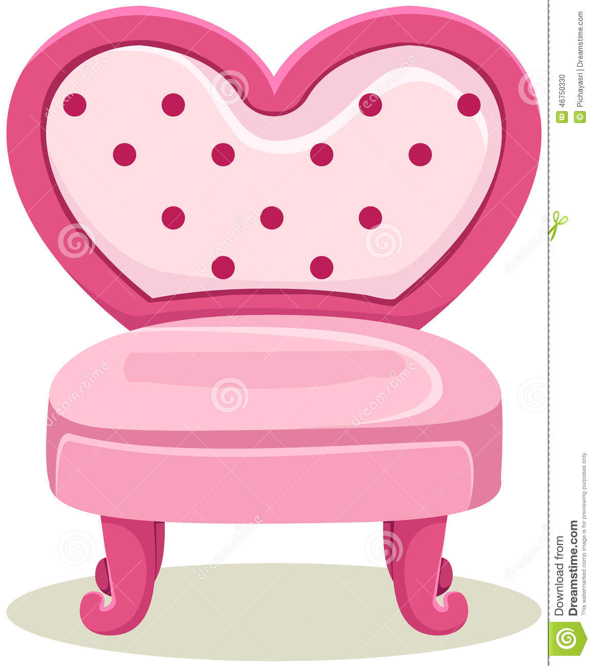 Pink chair stock vector illustration of comfort modern for Cute white chair