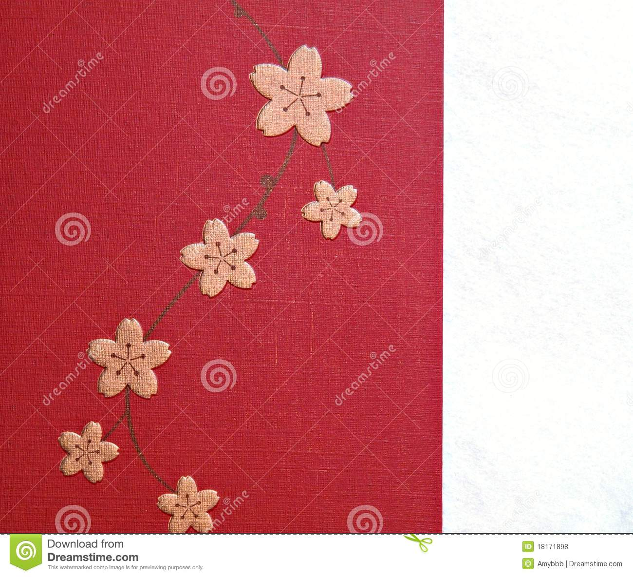 pink chinese new year lucky flower paper pattern royalty