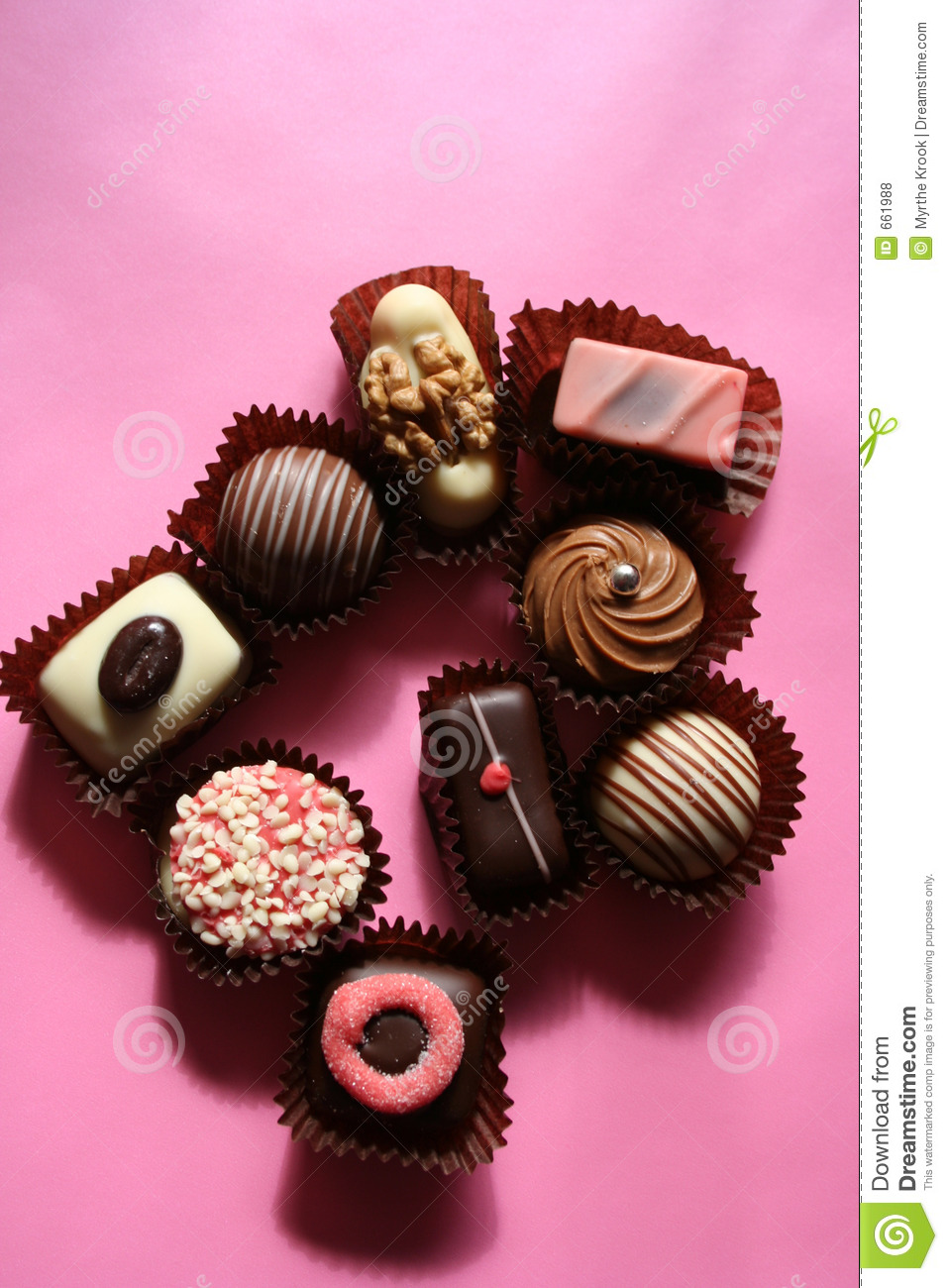 Pink Chocolate Royalty Free Stock Photos - Image: 661988