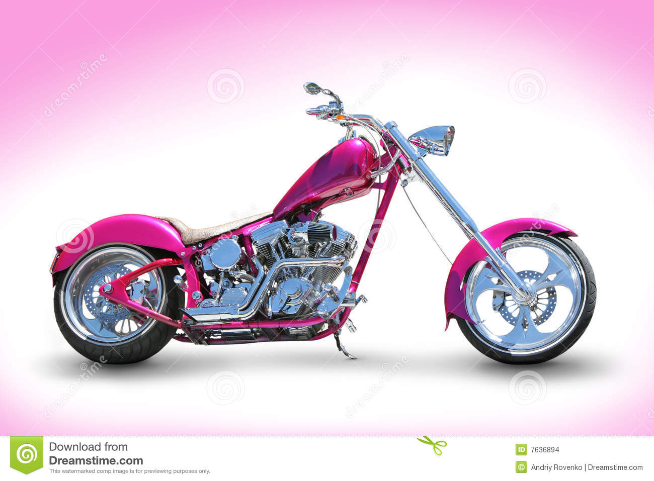 Pink chopper stock photo. Image of bikes, bikers ...