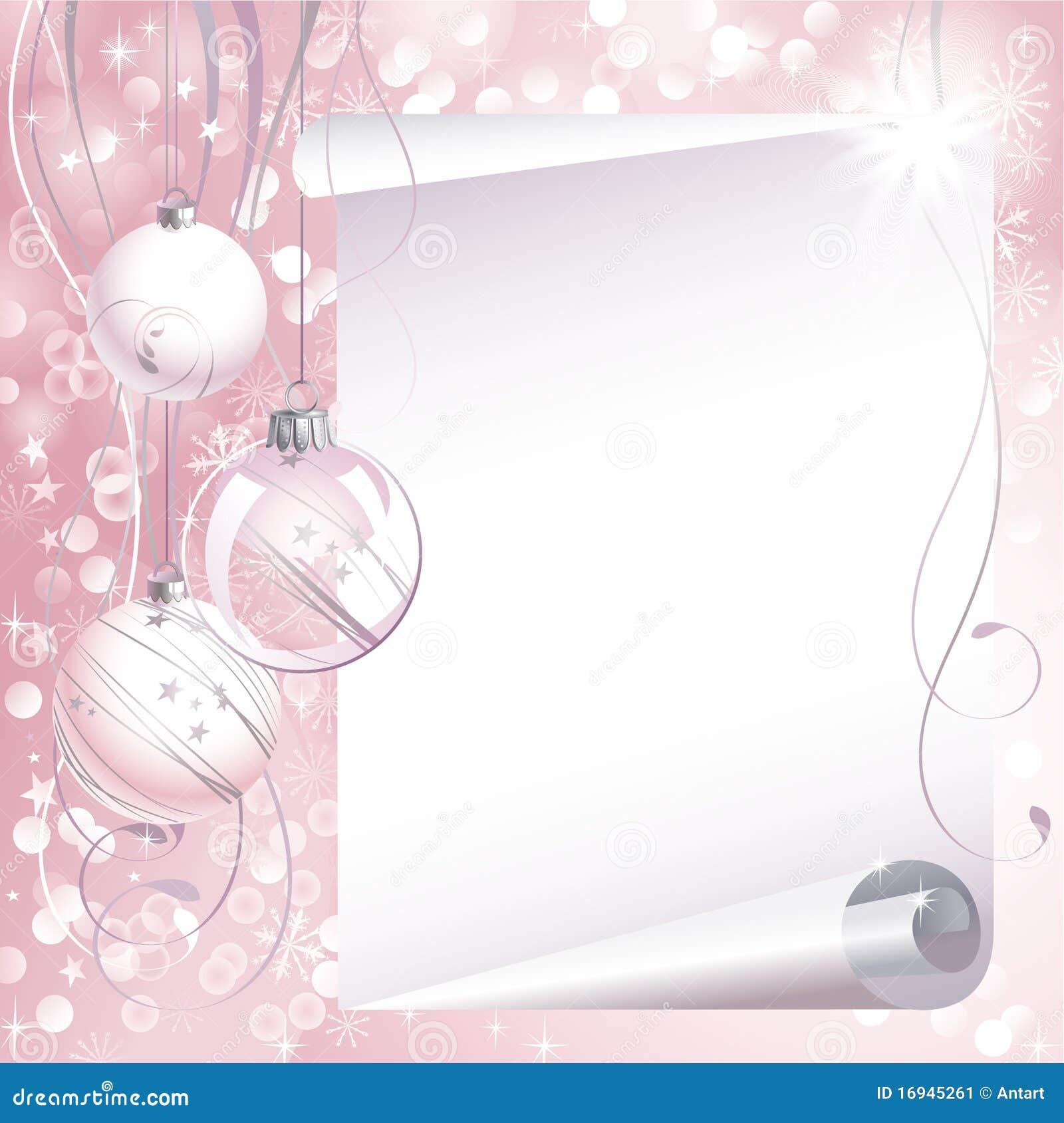Pink Christmas Background Stock Image - Image: 16945261