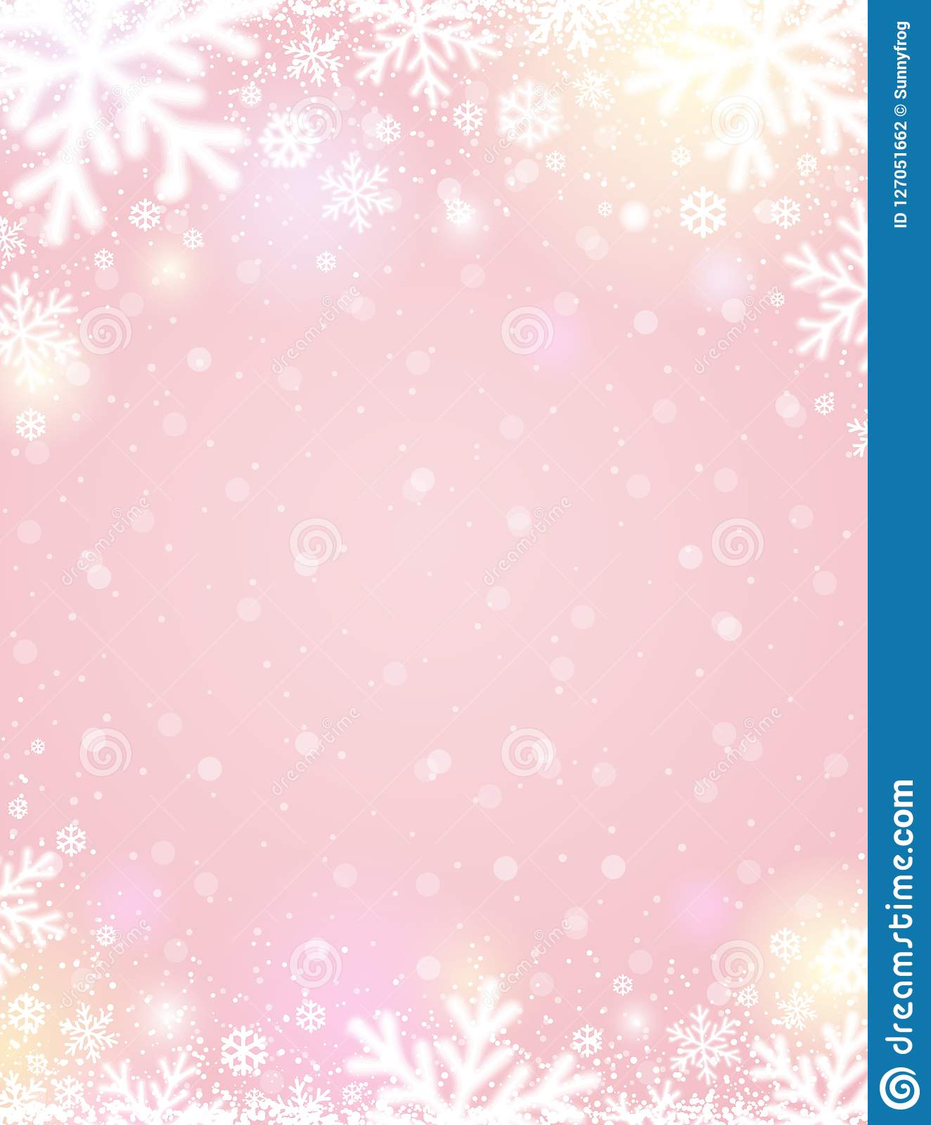 pink christmas background with white blurred snowflakes vector stock vector illustration of year design 127051662 https www dreamstime com pink christmas background white blurred snowflakes vector illustration image127051662