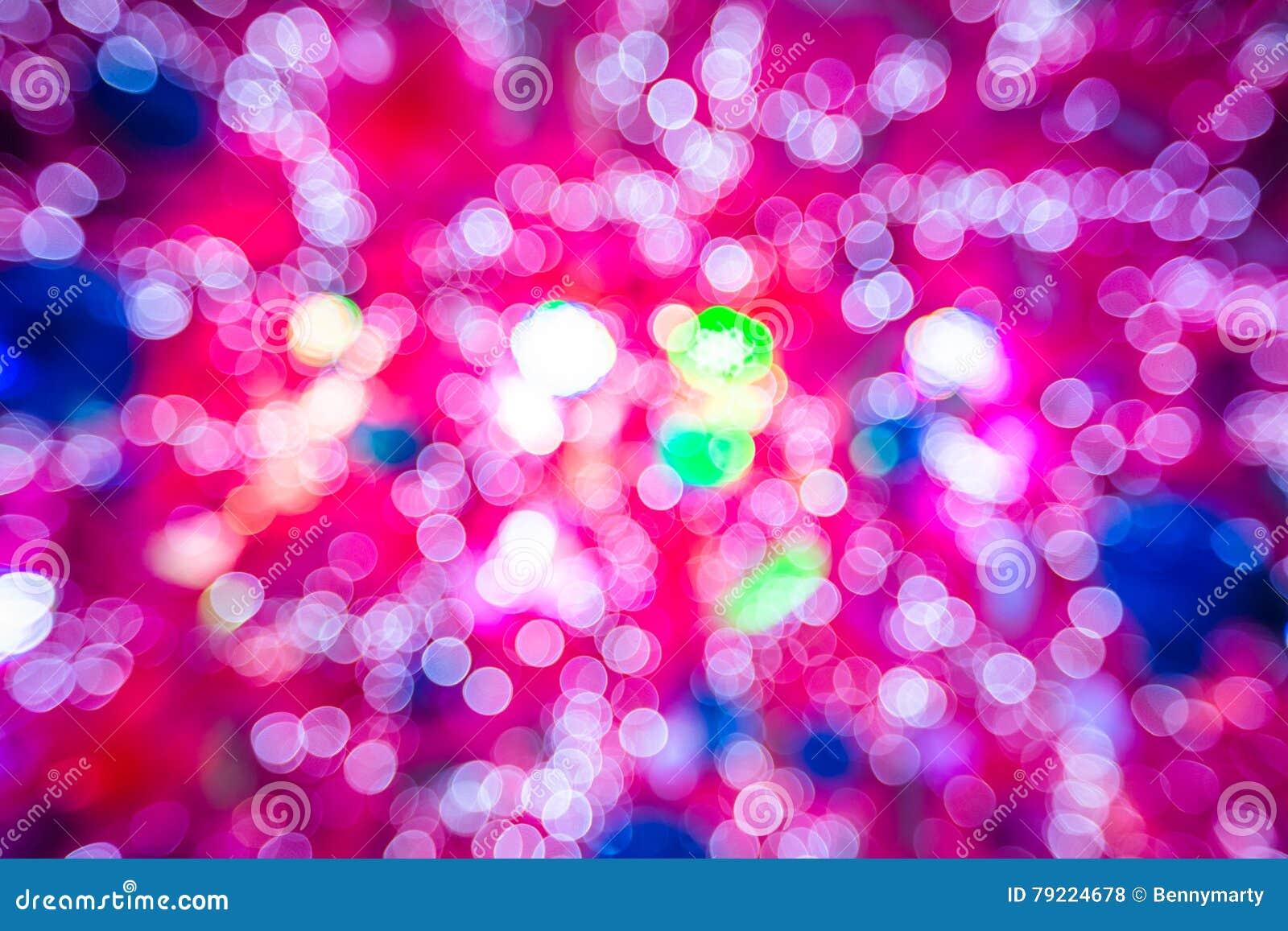 Pink Christmas Lights Stock Photo Image Of Celebration