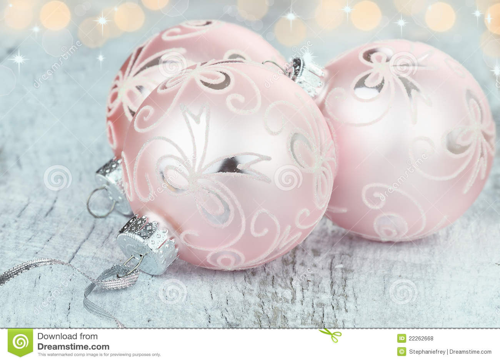 Pink Christmas Ornaments Royalty Free Stock Photos Image