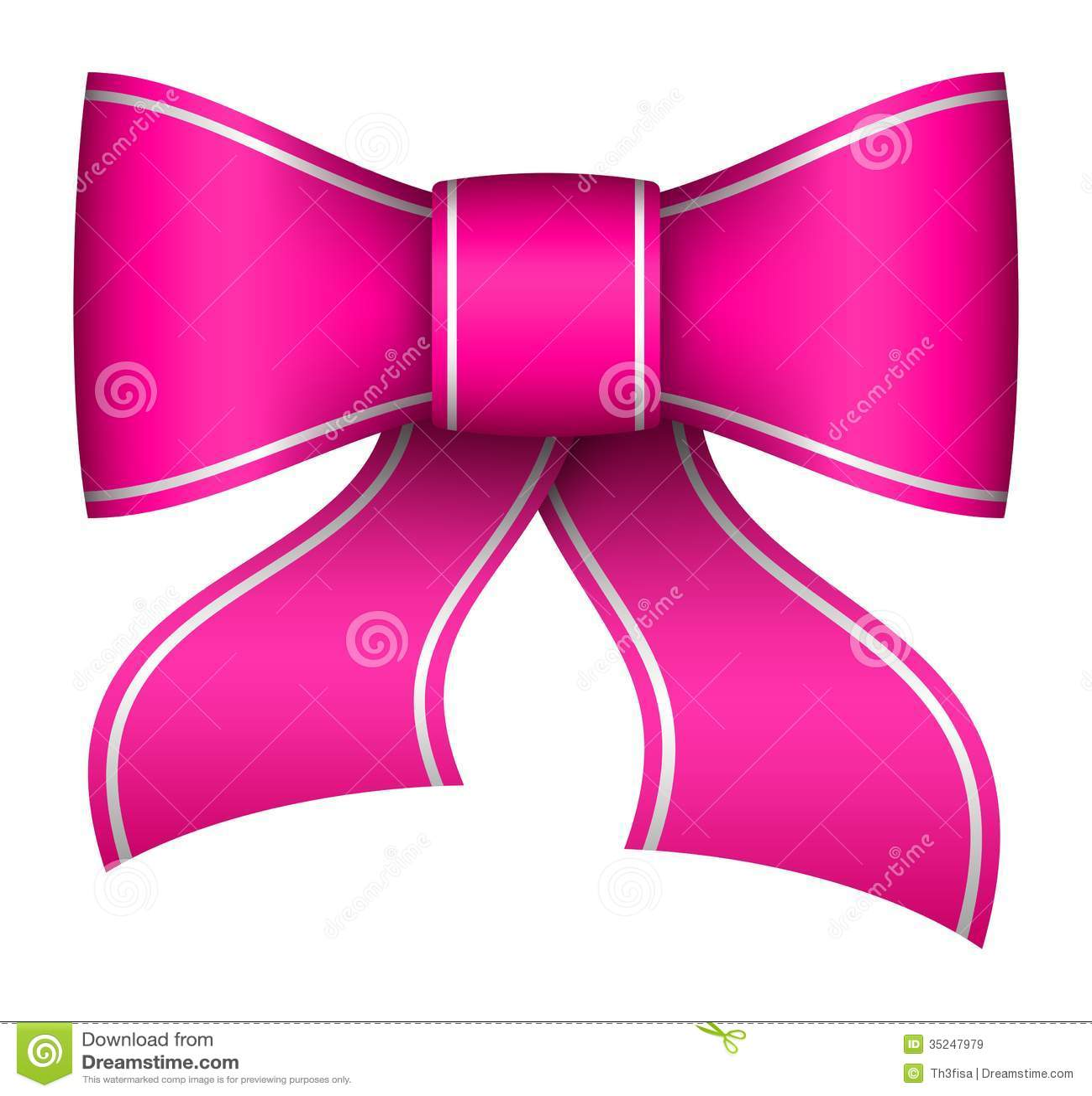 Pink christmas ribbon bow stock illustration image of