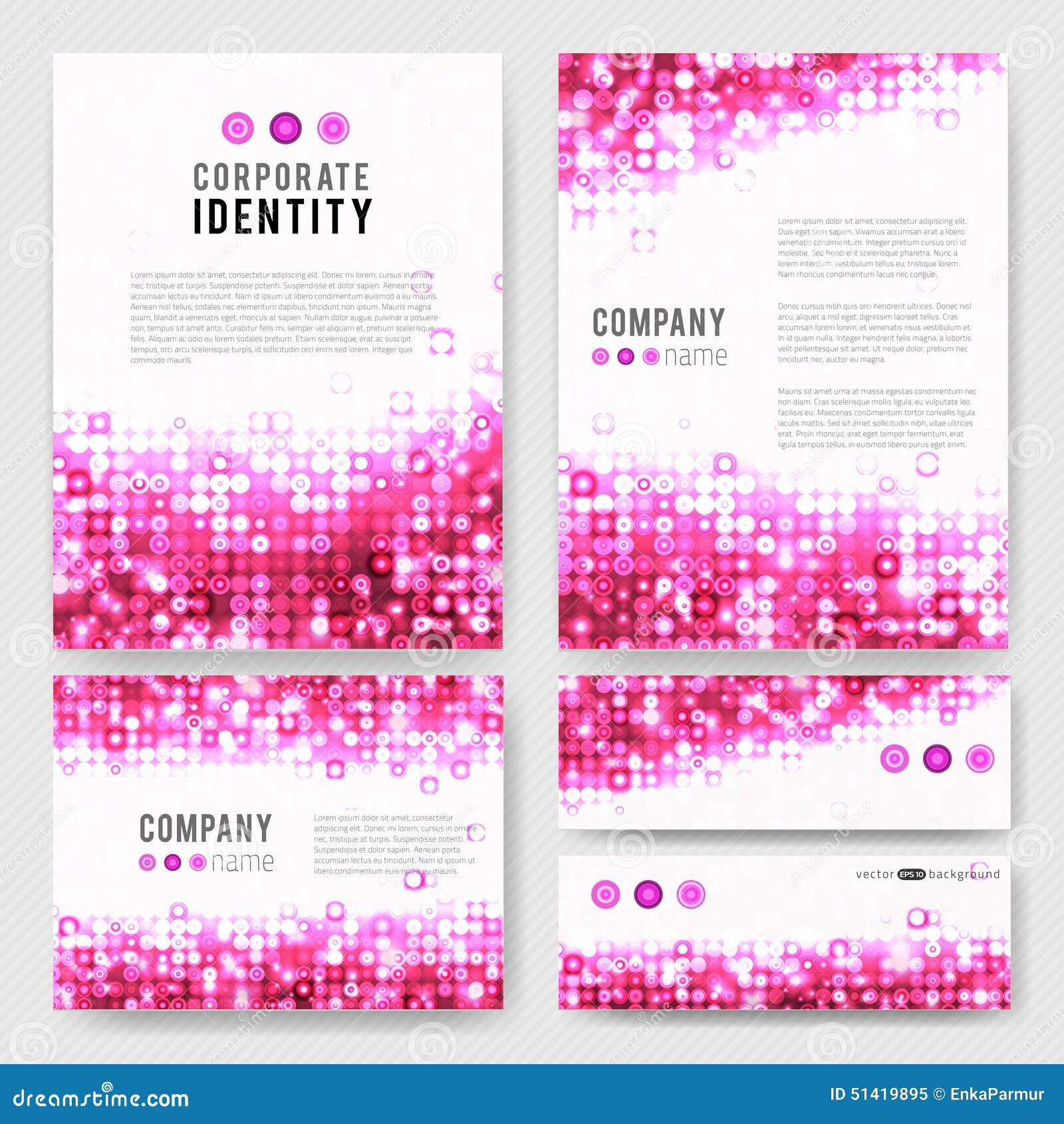 Pink circles identity-1 stock vector  Illustration of