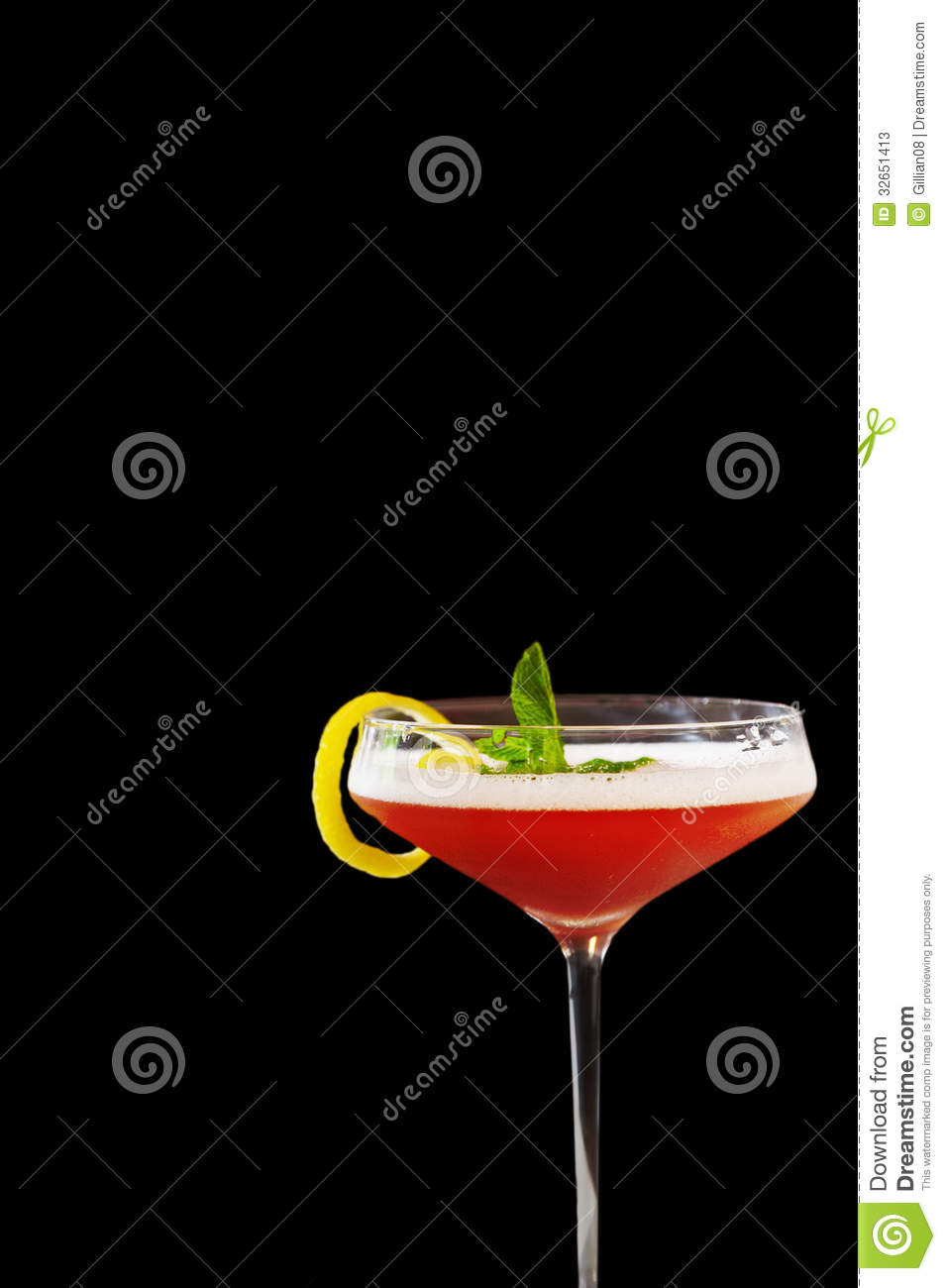 pink drink wallpapers: Pink Martini Black Background Stock Images