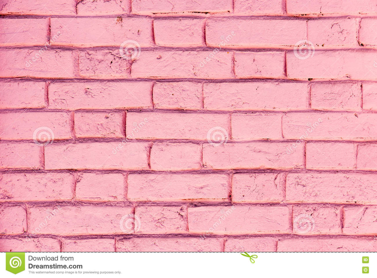 Pink Brick Wall Texture Royalty-Free Stock Image