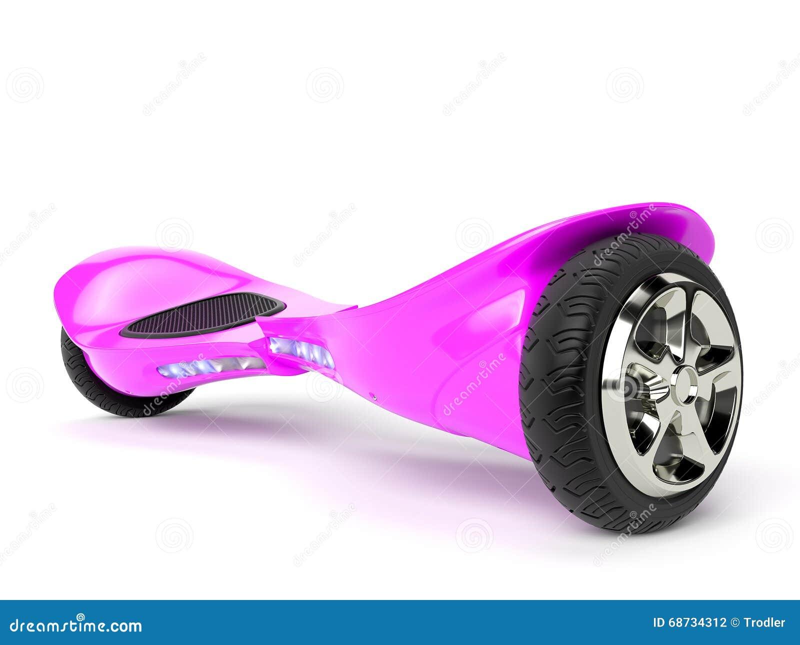 Pink Color Hoverboard On White Stock Illustration Image