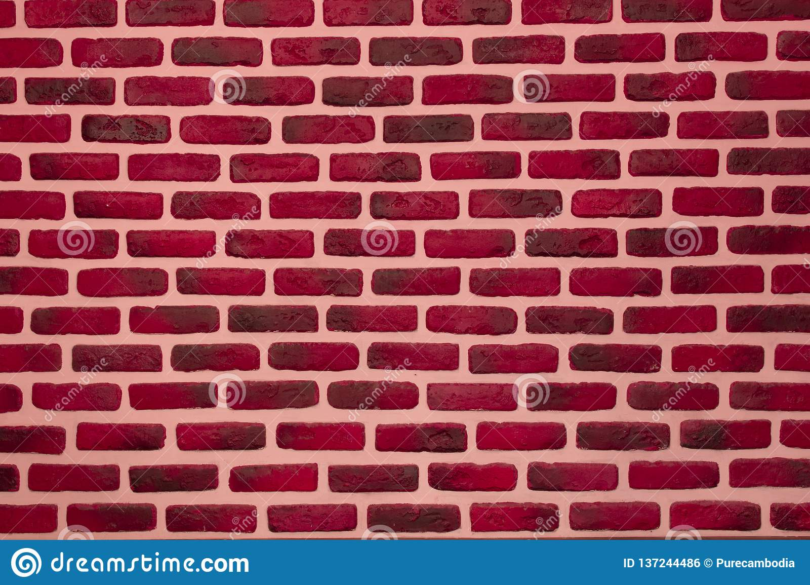 Astonishing Pink Color Painted Interior Brick Wall Background Stock Home Interior And Landscaping Ologienasavecom