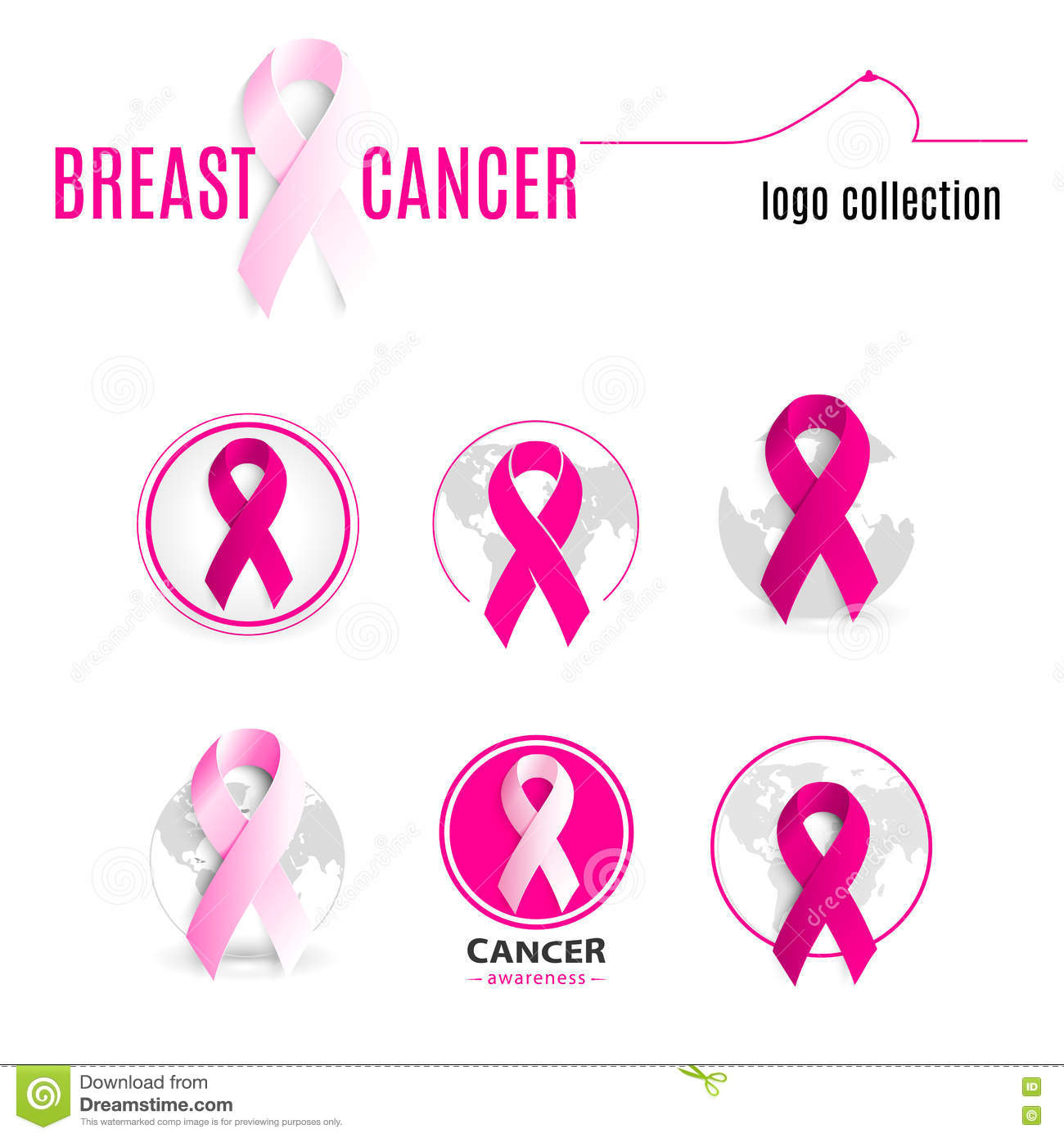 Pink color ribbon in a circle logo set against cancer round shape pink color ribbon in a circle logo set against cancer round shape logotype collection stop disease symbol biocorpaavc Gallery