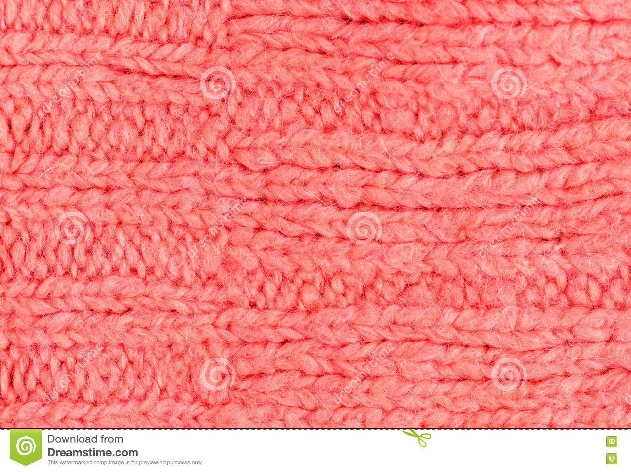Pink Color Texture Of Knitted Woolen Fabric For Wallpaper. Color ...