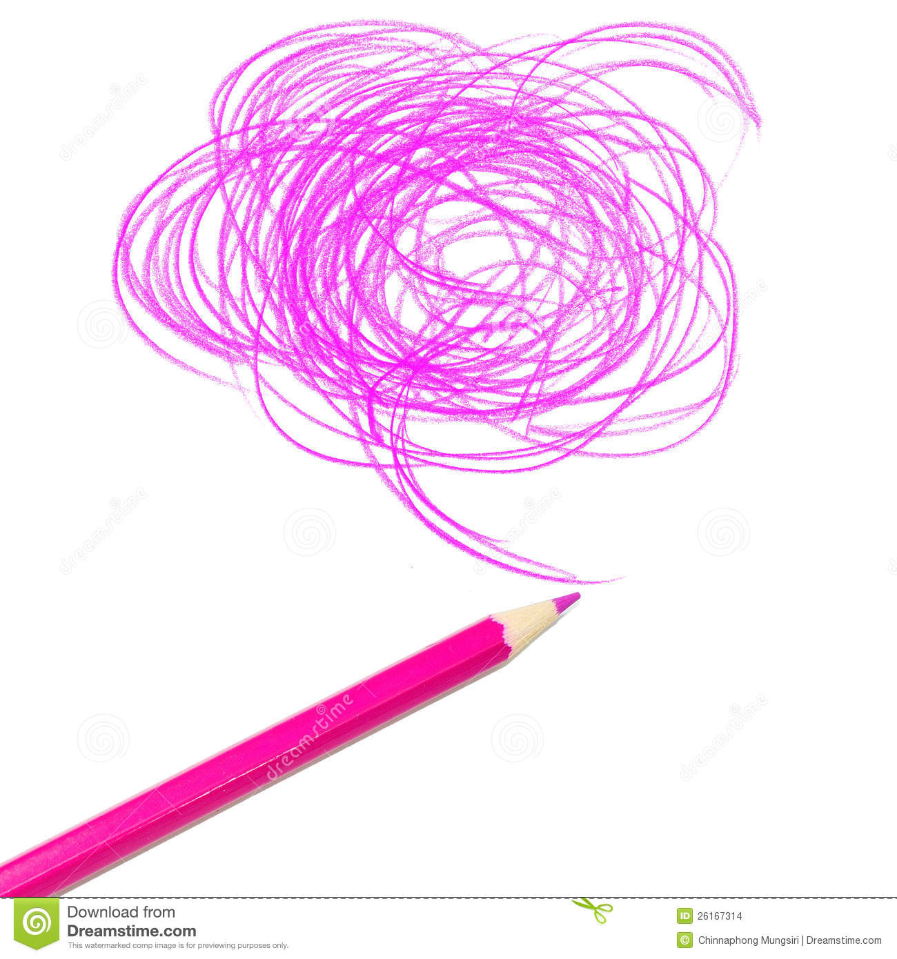 Pink Colored Pencil Drawing Stock Images Image 26167314
