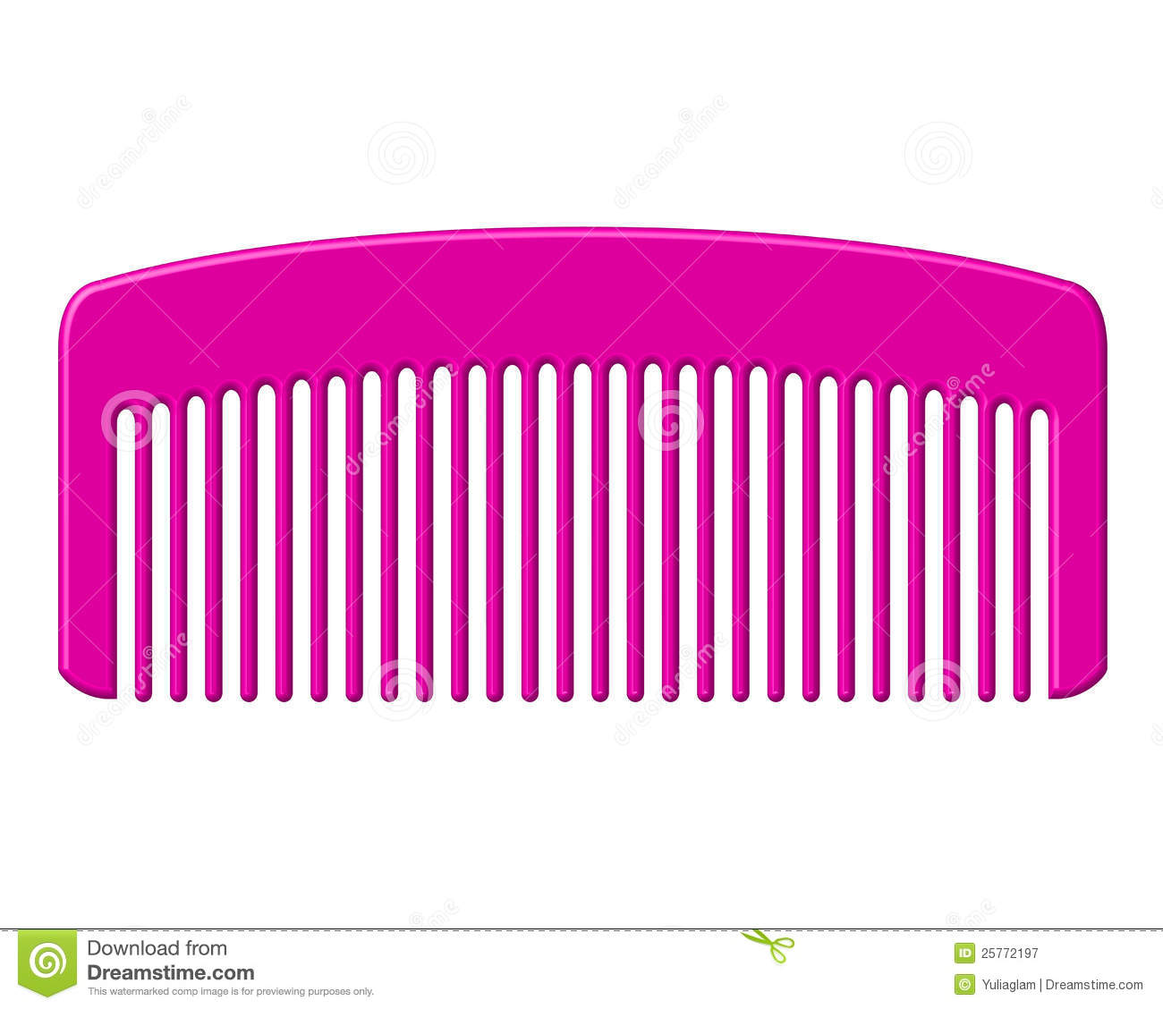 Pink Comb Royalty Free Stock Photography Image 25772197