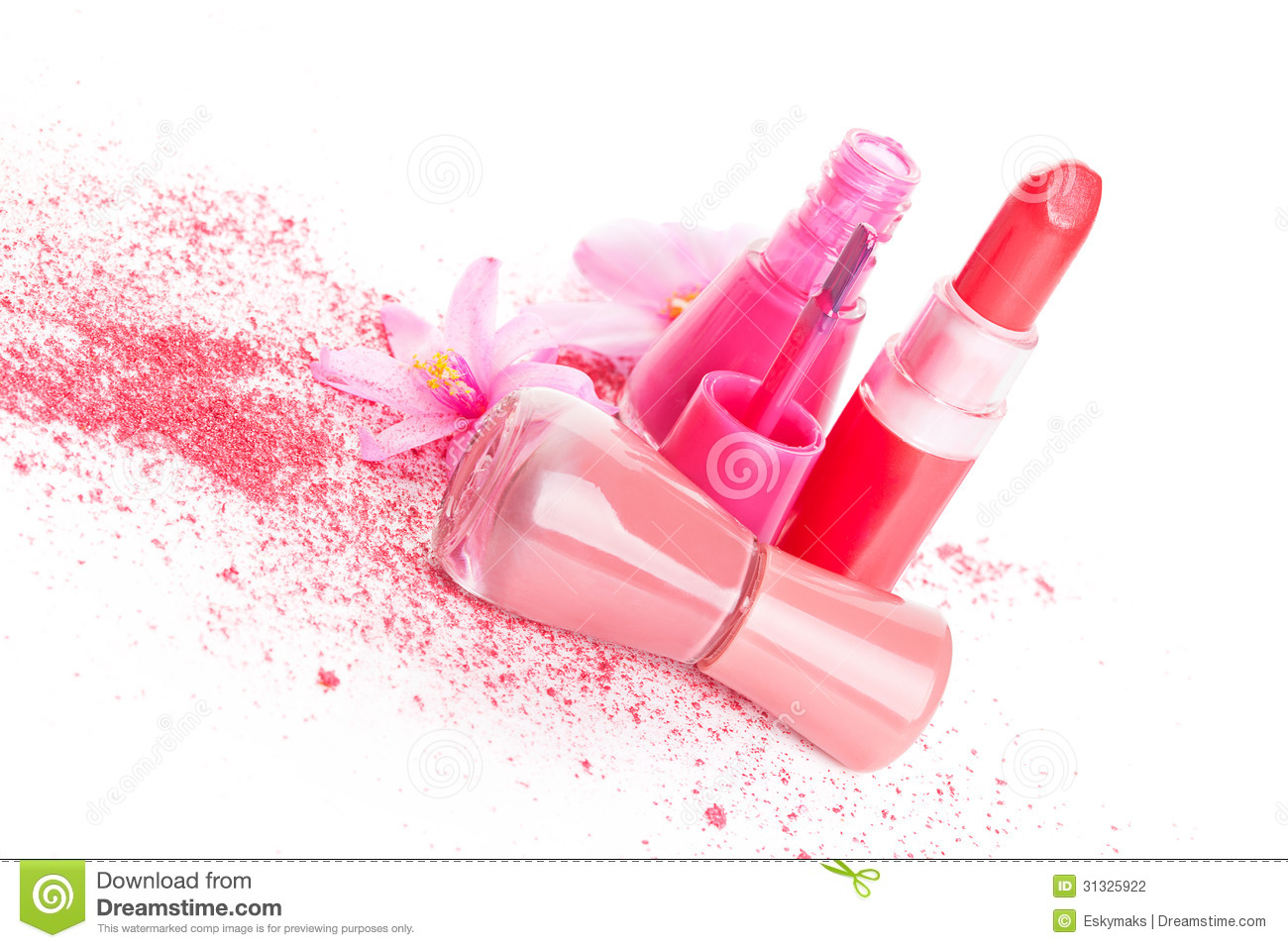 Pink Cosmetic Still Life Stock Photo Image Of Beauty 31325922