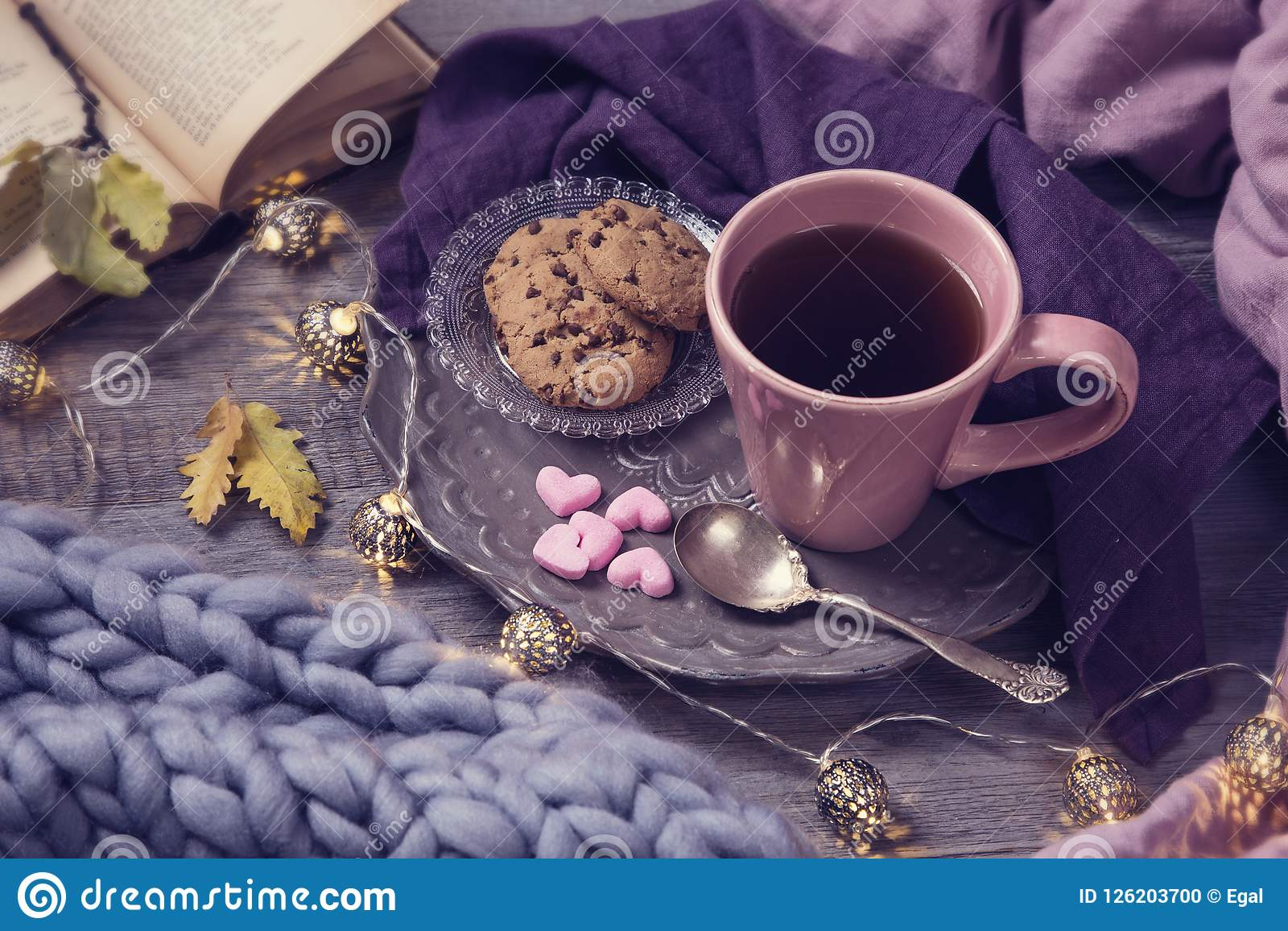 Download Pink cup of tea stock photo. Image of pastel, lifestile - 126203700