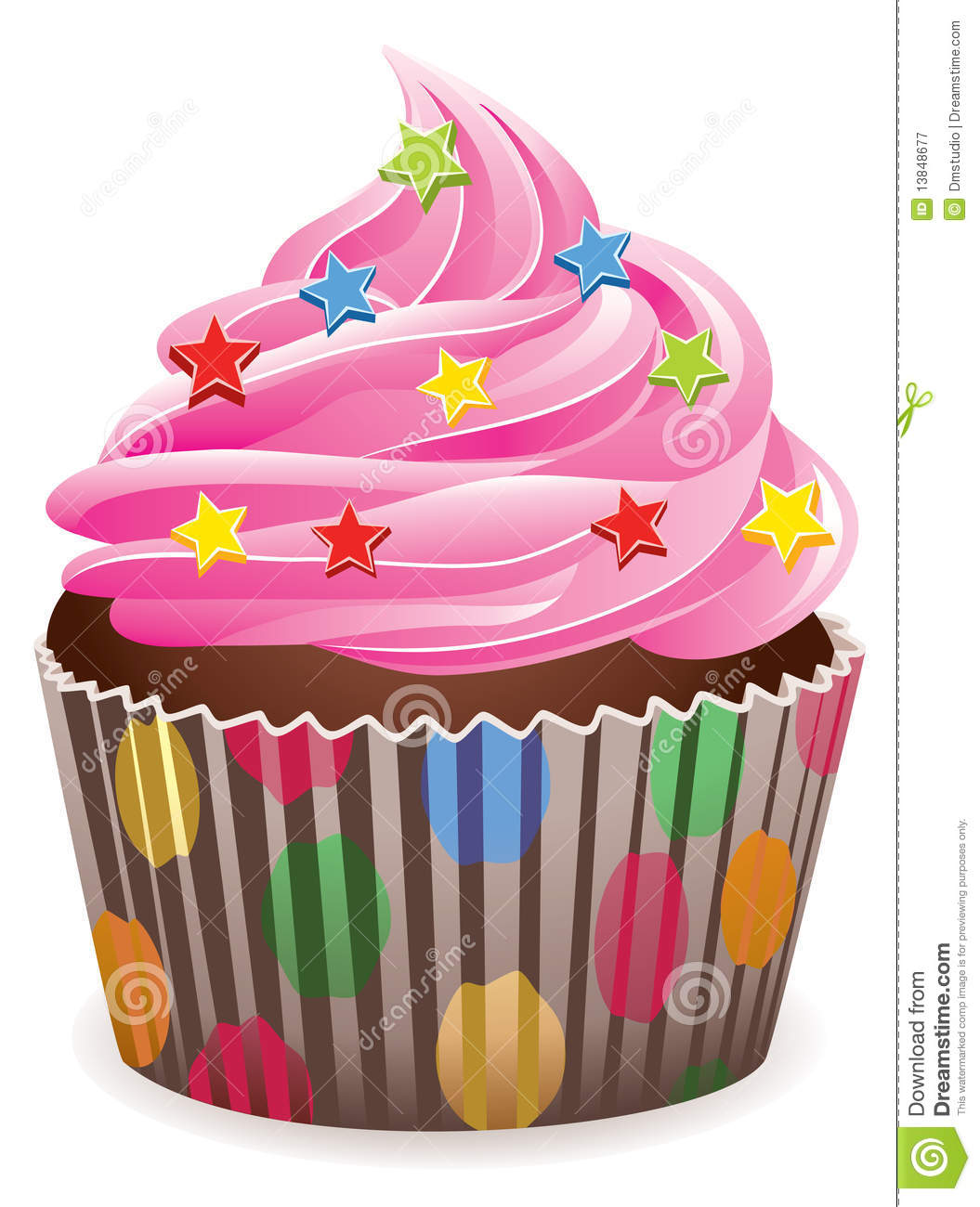 Pink Cupcake Royalty Free Stock Photography Image 13848677
